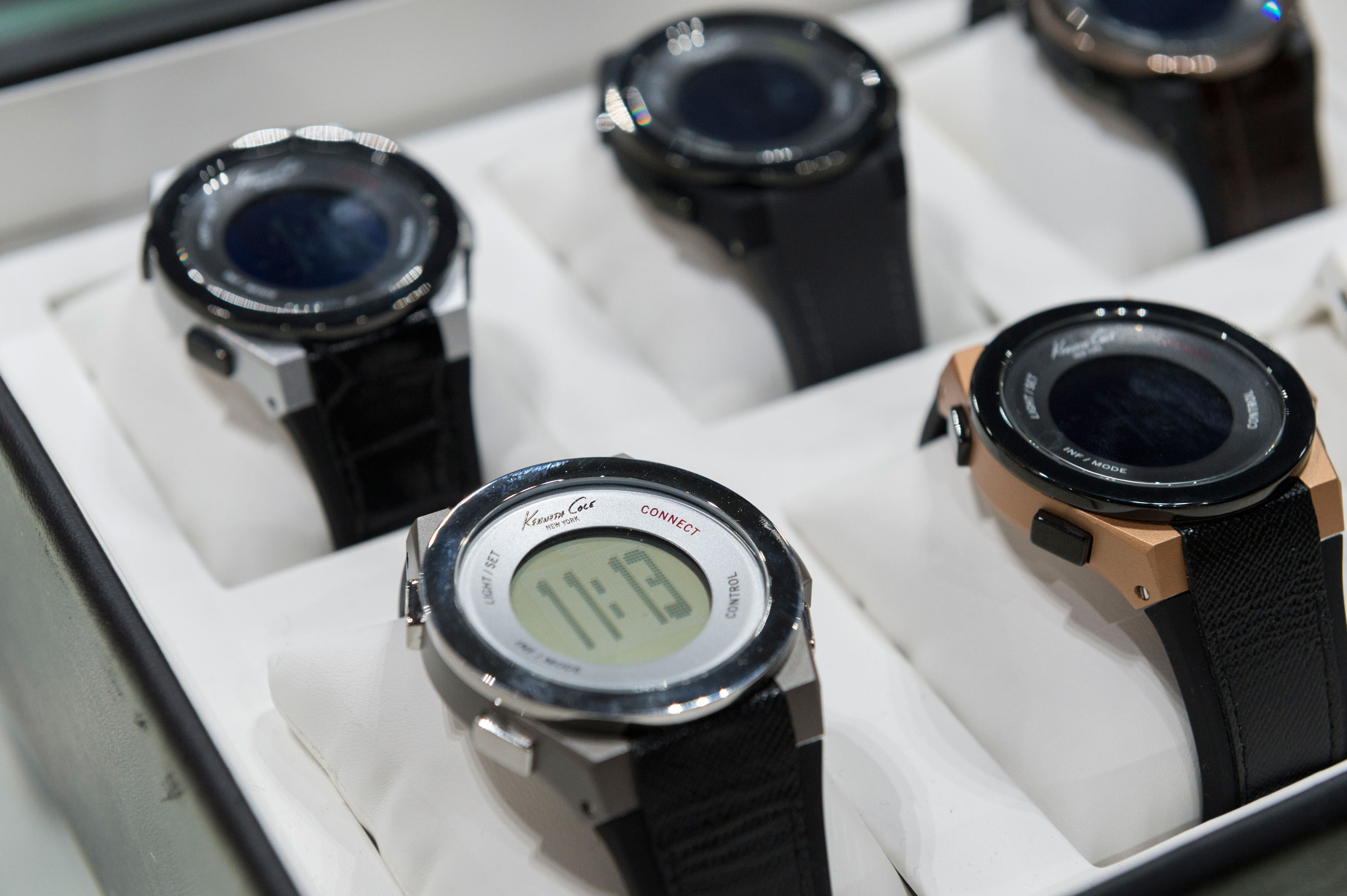 The line of Kenneth Cole Connect� smart watches includes 12 styles for both men and women. Kenneth Cole is one of the first fashion brands to enter the market.