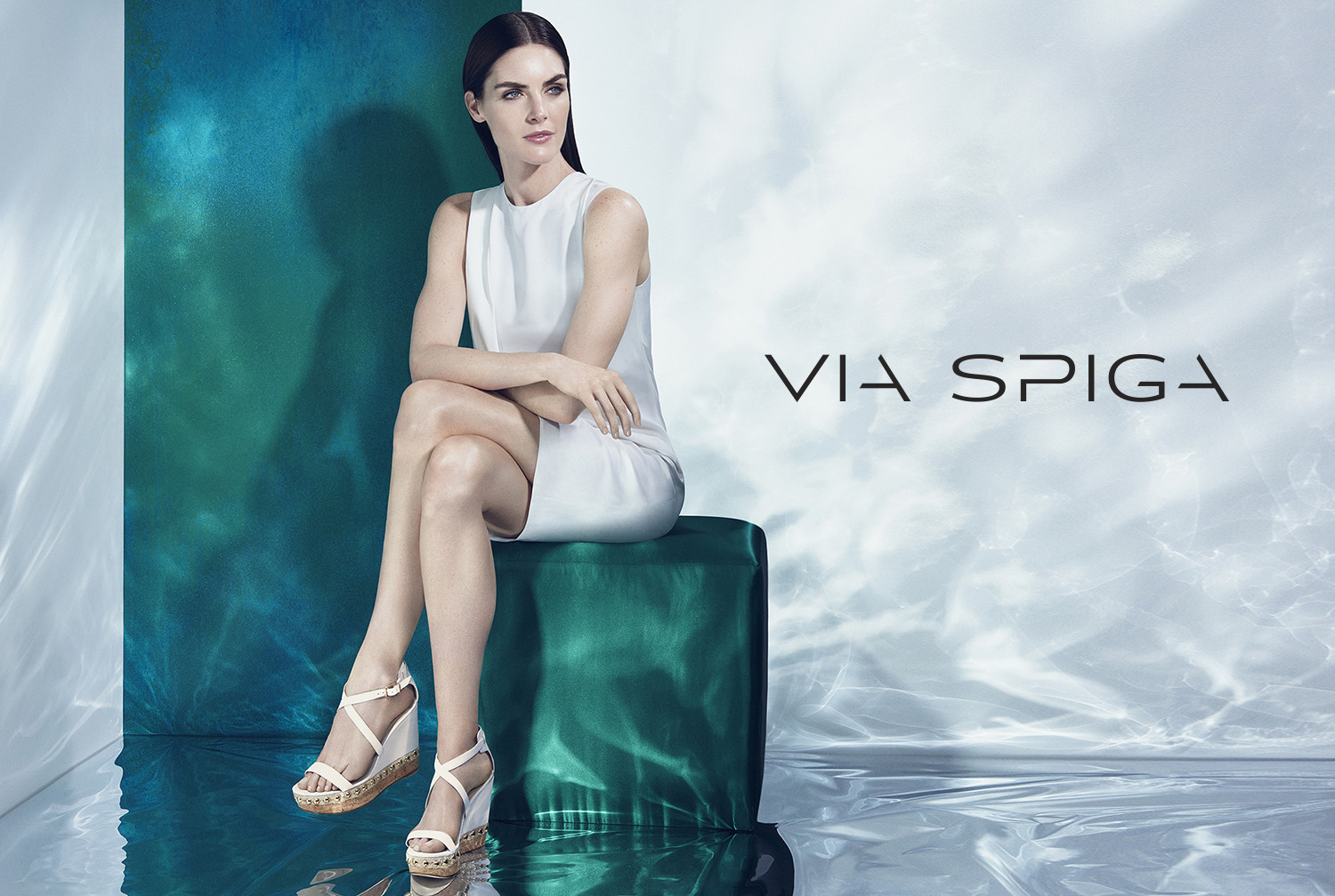The Via Spiga Moss wedge sandal from the Spring 2015 collection.