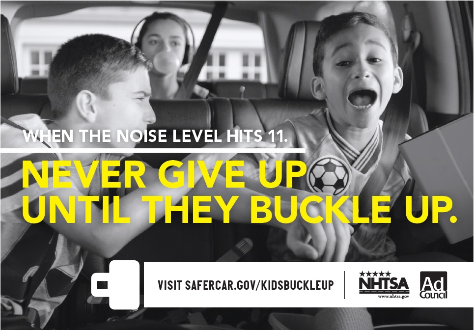 u s dot launches first ever national tween seat belt advertising campaign
