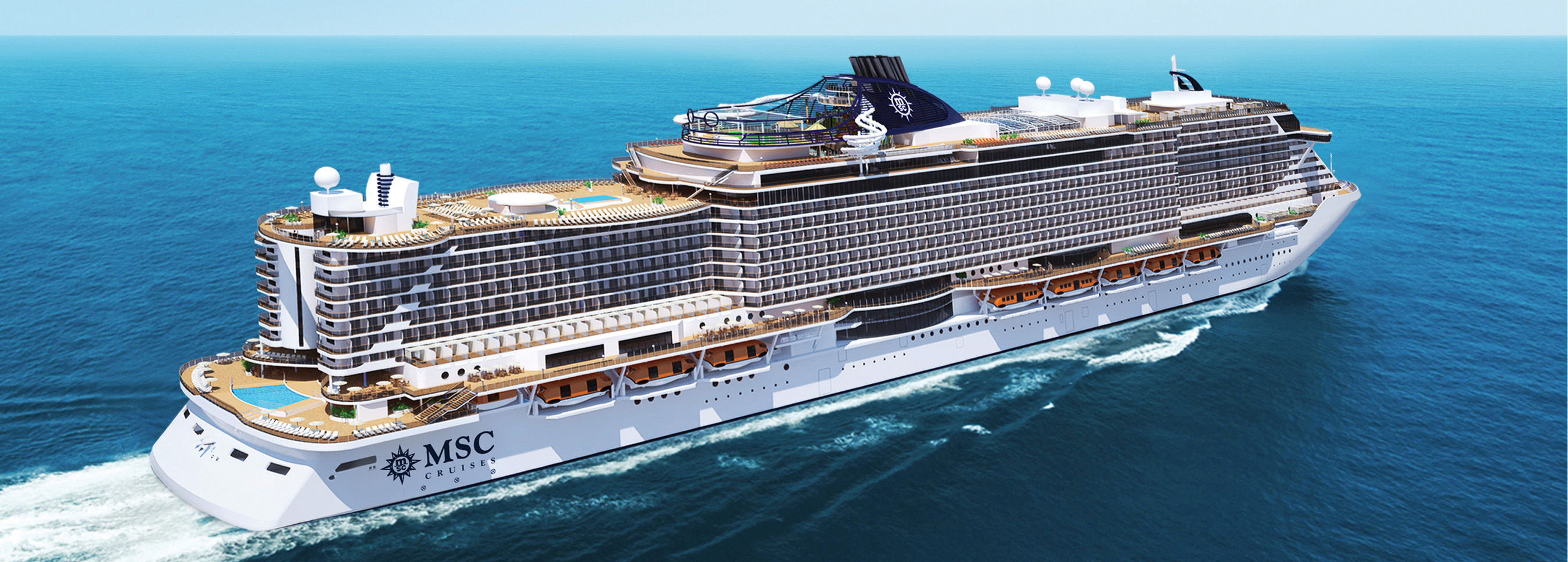 MSC CRUISES REVEALS FIRST DETAILS OF NEW ULTRAMODERN SEASIDE - First cruise ship in the world
