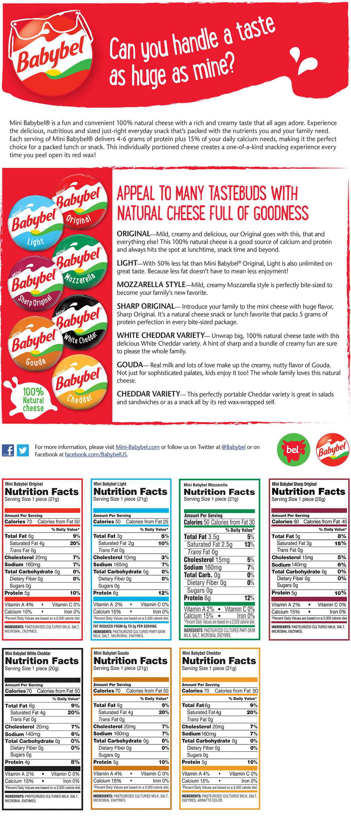 babybel cheese nutrition
