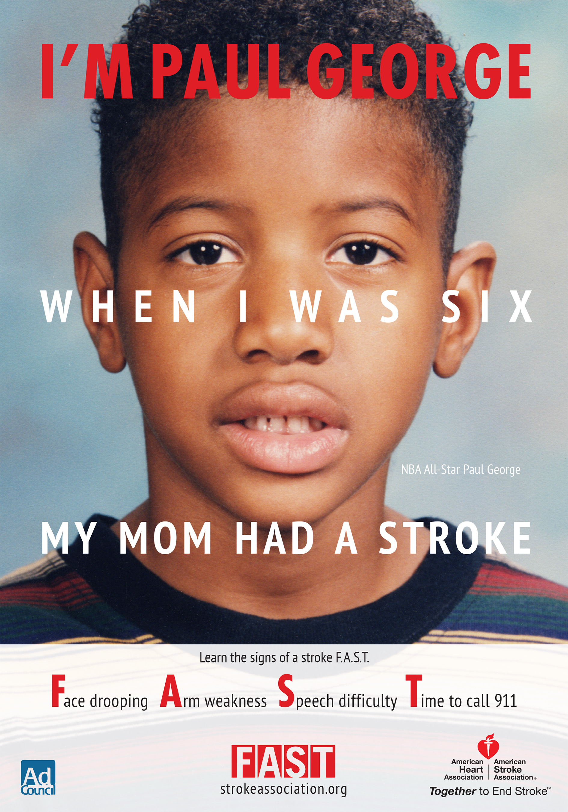 NBA All-Star Paul George Teams Up with American Stroke Association on Stroke Warning Sign PSAs