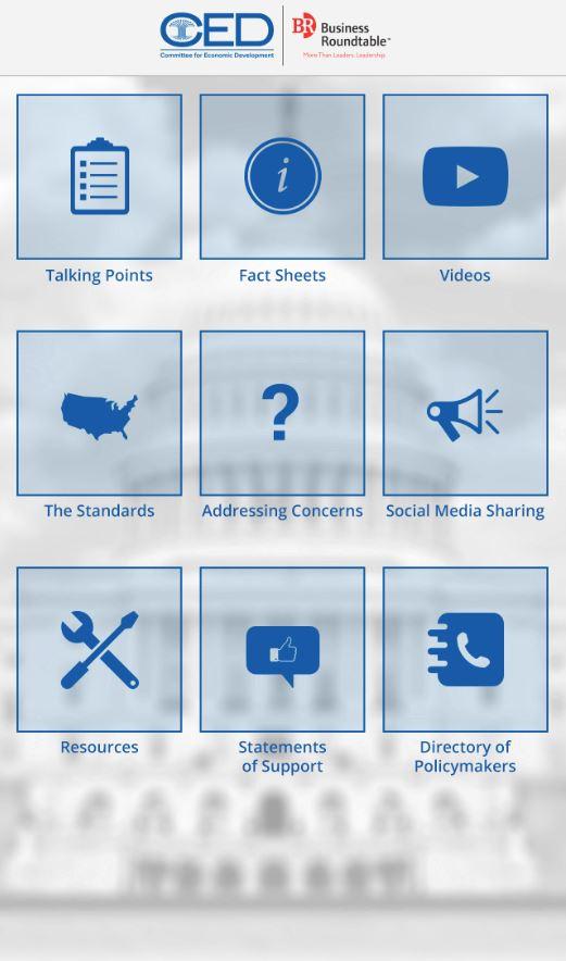 Menu Page - CED Mobile App
