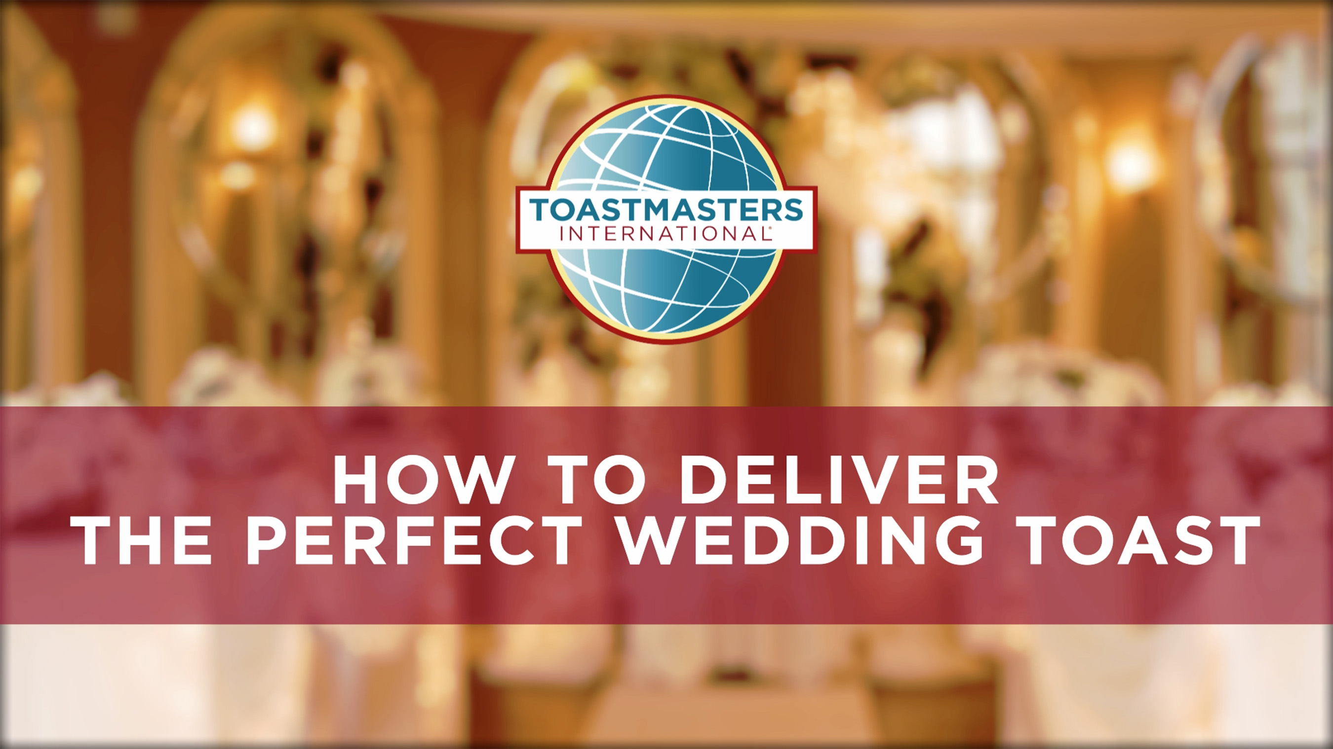 Introduction to wedding toast