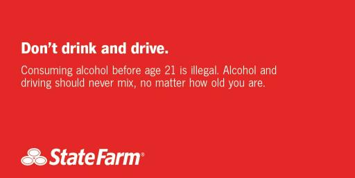 Don't Drink and Drive social graphic