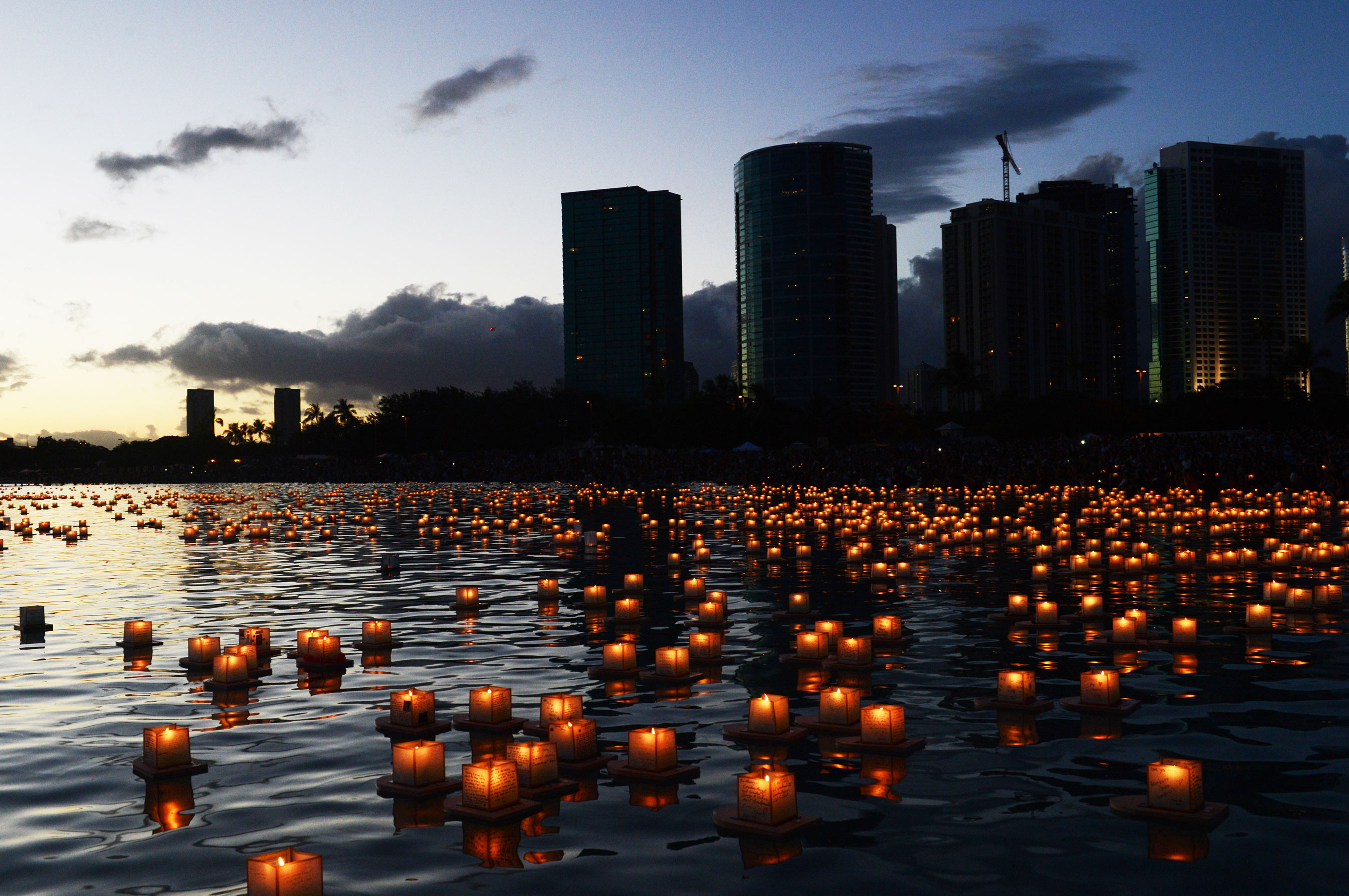 the 17th annual lantern floating hawaii ceremony is the largest