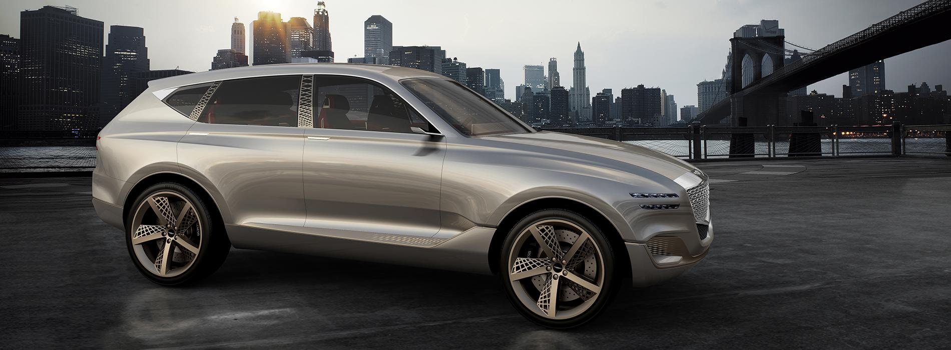 Genesis Reveals Gv Fuel Cell Concept Suv At New York International Auto Show