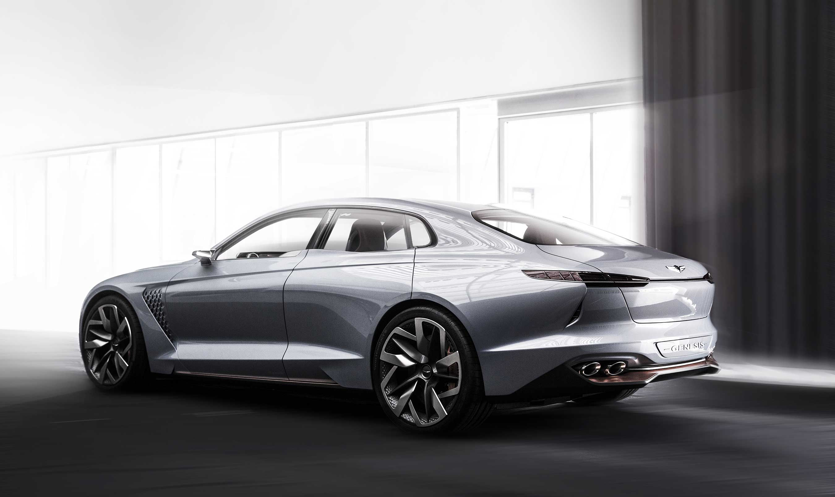Genesis Reveals Hybrid Sports Sedan Concept At New York International Auto Show