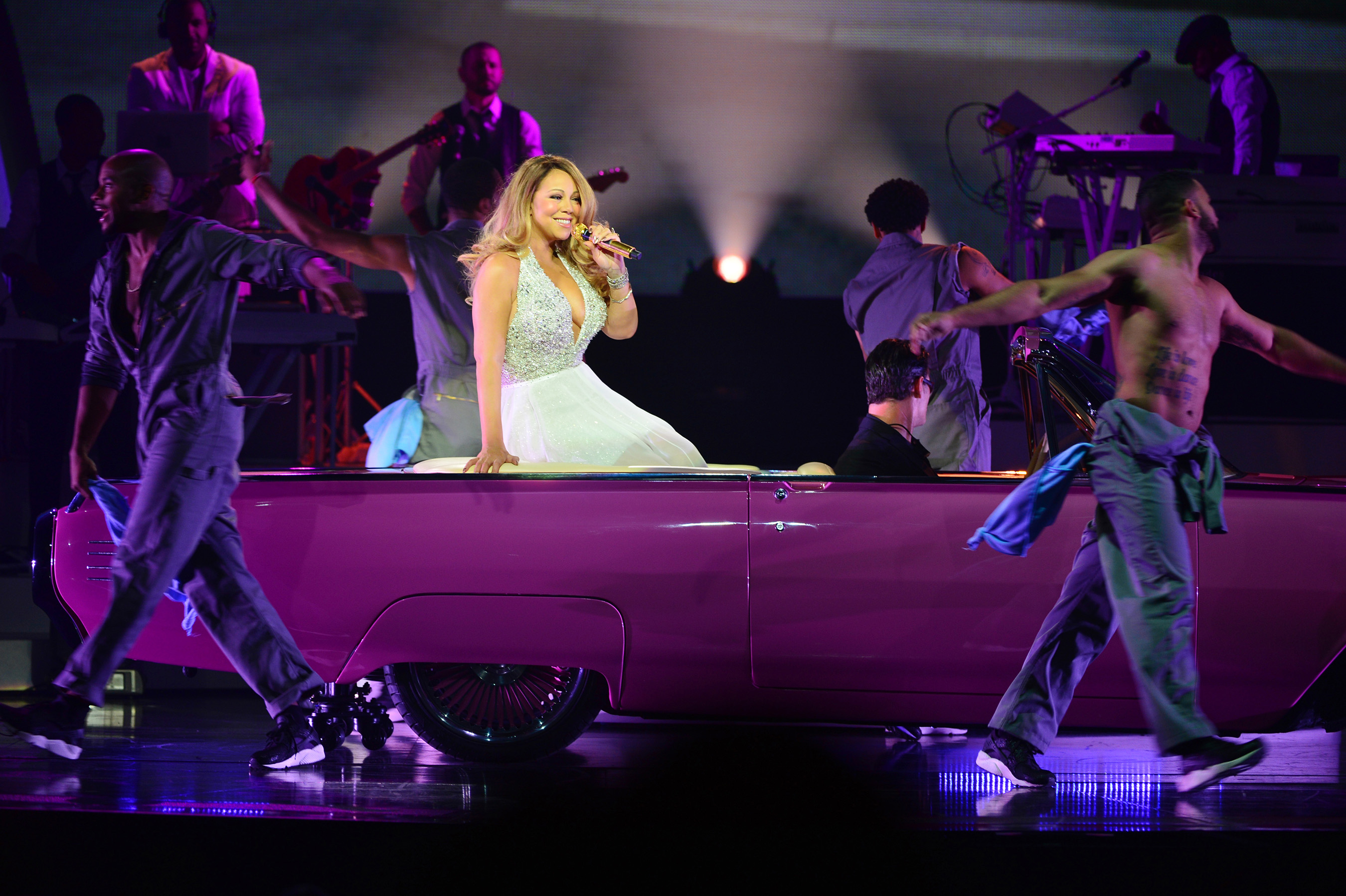 "Mariah Carey debuts new Las Vegas show ""MARIAH #1 TO INFINITY"" at The Colosseum at Caesars Palace. Photo Credit: Denise Truscello"