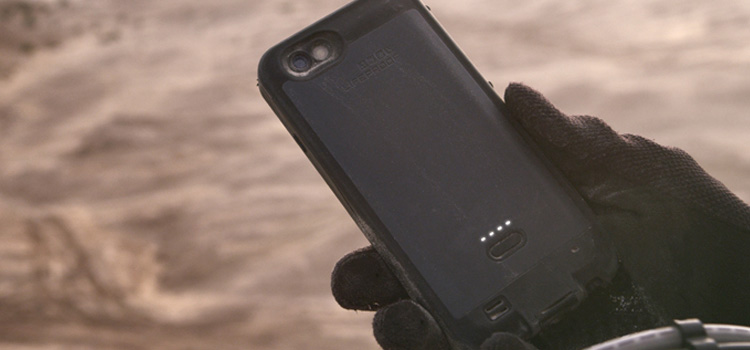 Waterproof, drop proof protection with 2X battery life for iPhone 6