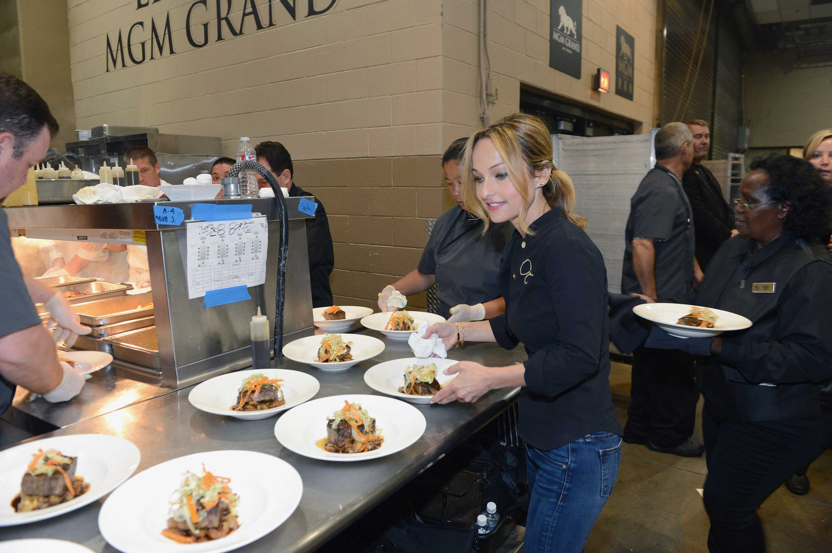Chef Giada De Laurentiis preparing delectable dishes for guests at Keep Memory Alive;s Power of Love Gala (D Truscello June 13, 2015)