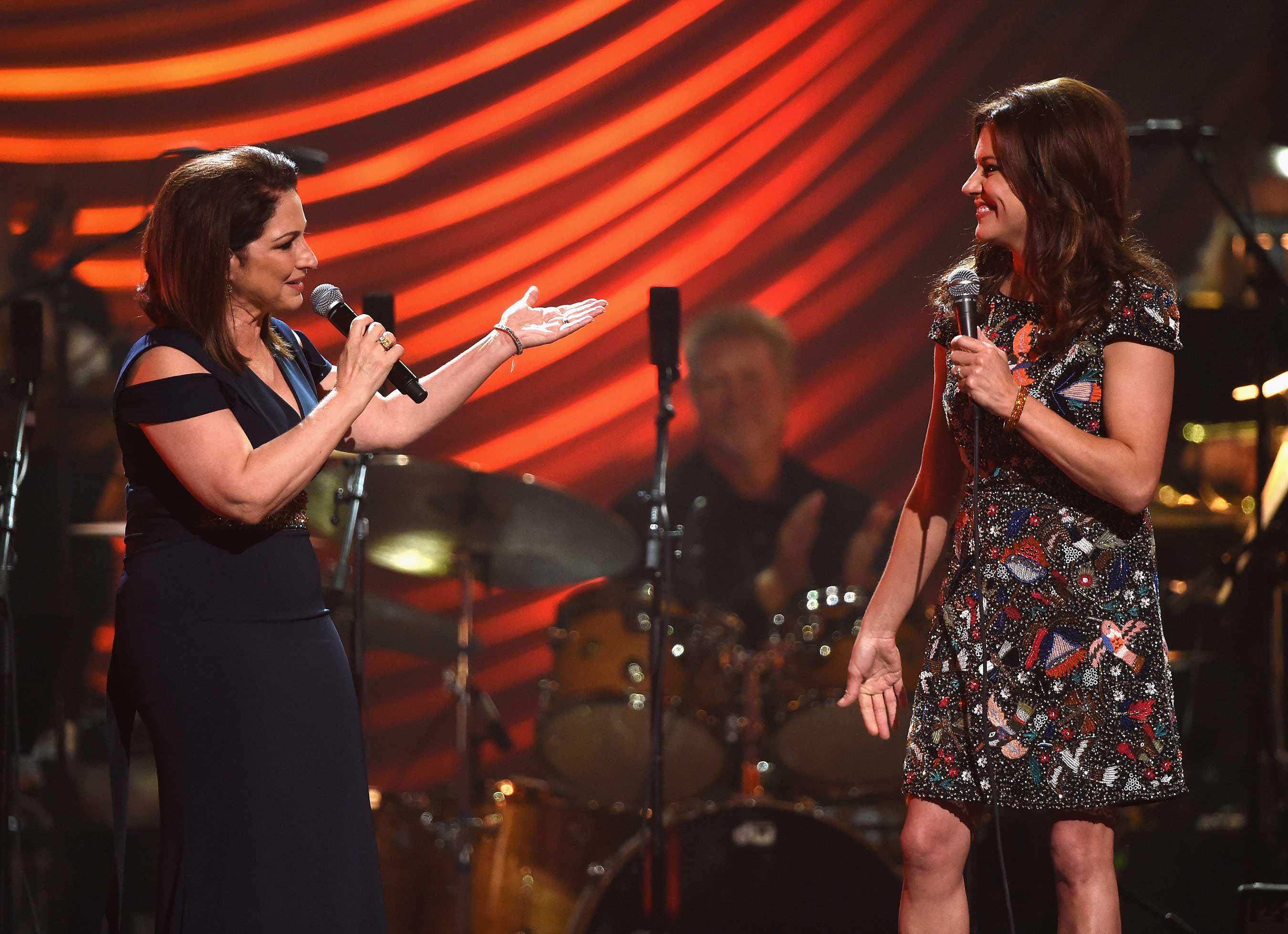 Gloria Estefan & Martina McBride perform at Keep Memory Alive's Power of Love Gala (E Miller June 13, 2015)