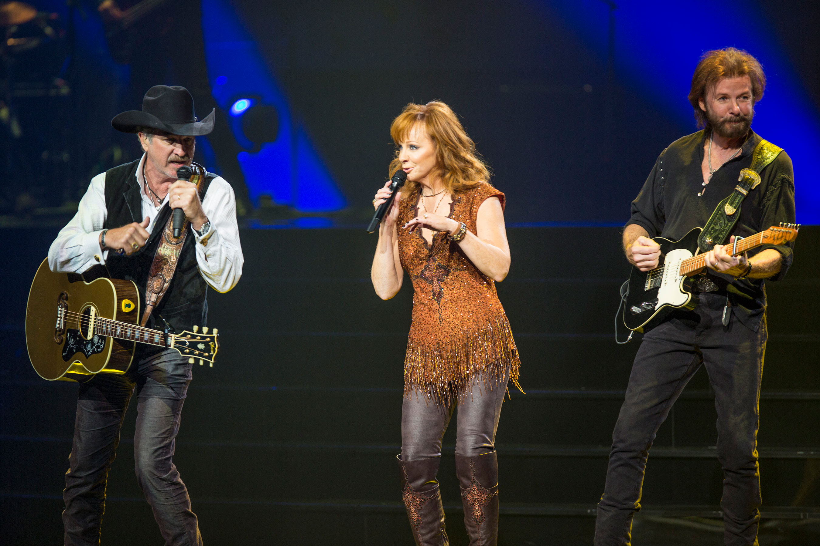 Kix Brooks, Reba and Ronnie Dunn launch their new Las Vegas residency, REBA, BROOKS & DUNN: Together in Vegas at The Colosseum at Caesars Palace on Wednesday, June 17. Photo credit: Justin McIntosh