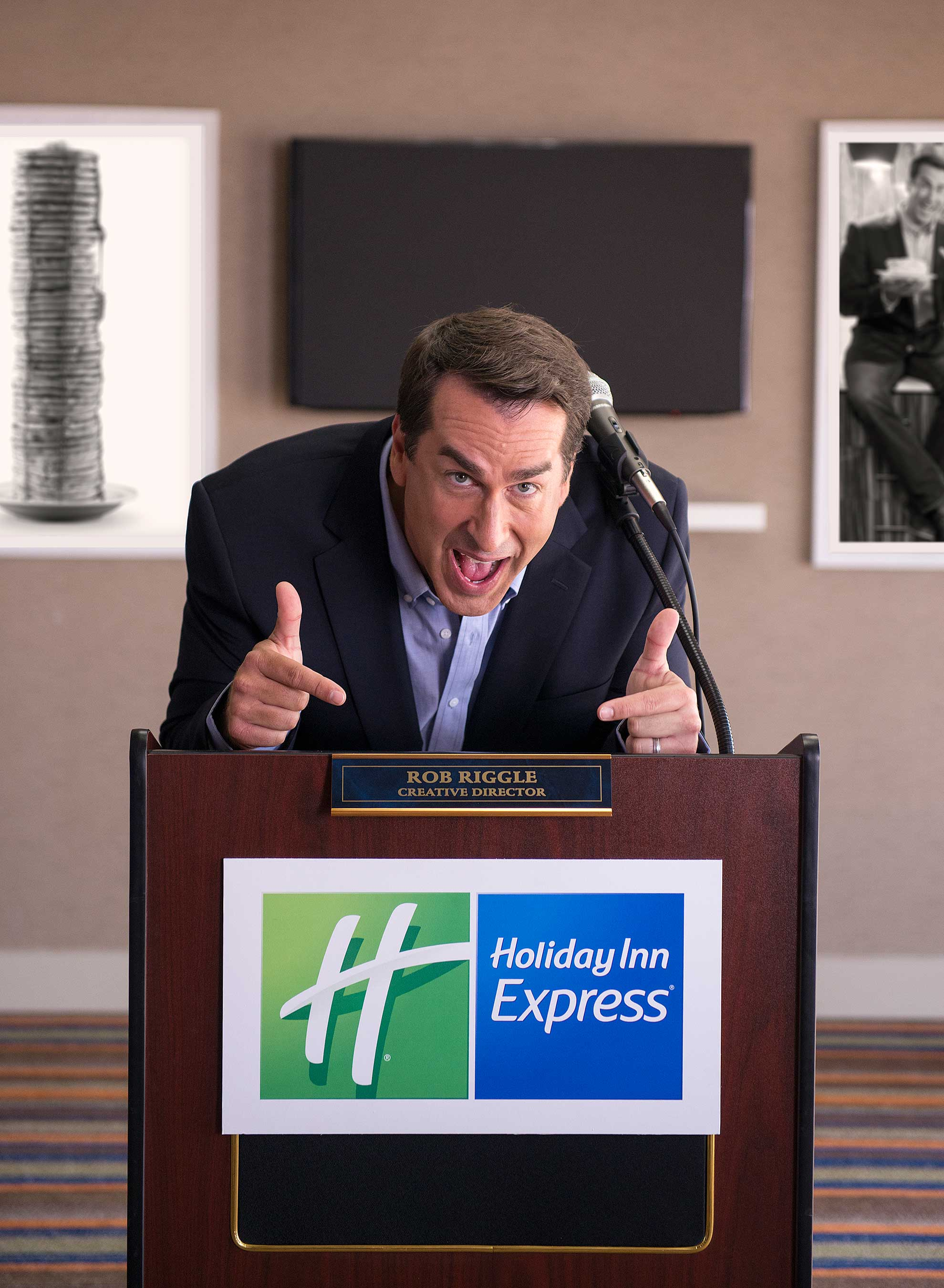 Rob Riggle is the Holiday Inn Express® brand's first-ever Creative Director and Breakfast Excellence Honcho.