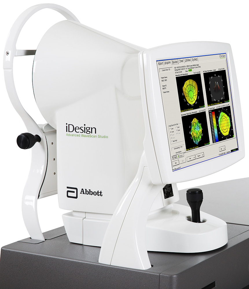 The iDesign System measures not only the optical system, but individual components of the eye based on the unique