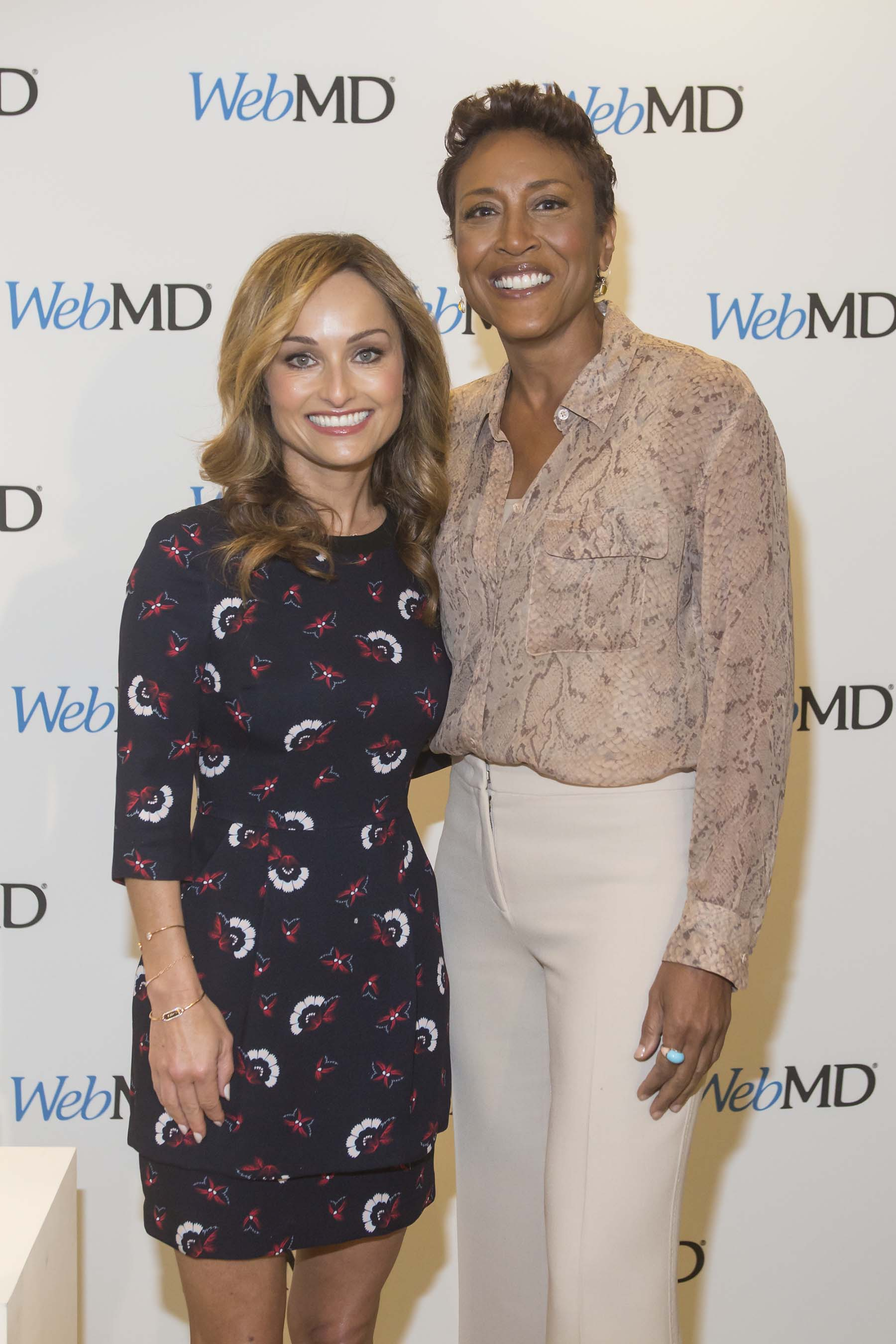 Giada De Laurentiis and Robin Roberts at WebMD's first-ever Digital Content NewFront presentation in New York City.