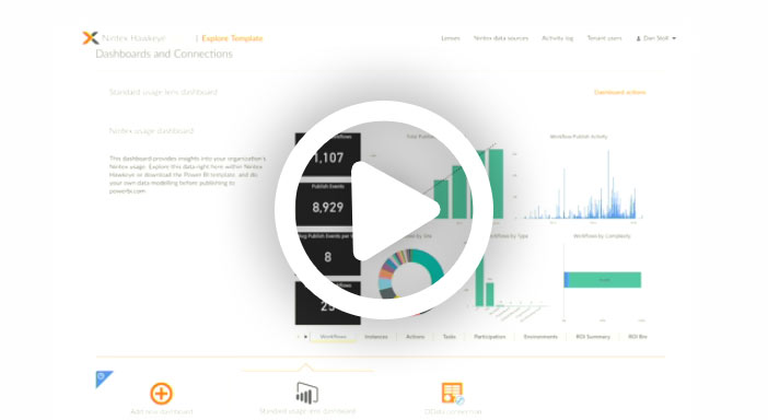 Discover how Nintex Hawkeye is a workflow analytics solution that helps you unlock the latent value in your data and gain unique perspective on the effectiveness of your process portfolio.
