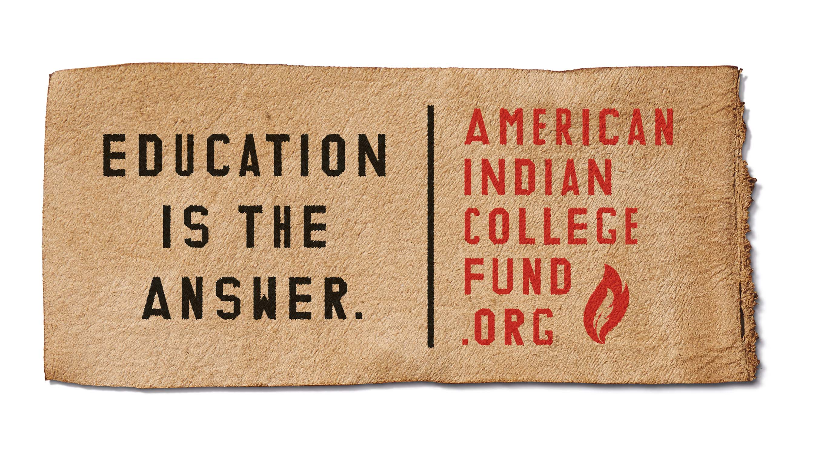 "The American Indian College Fund unveiled its new tagline ""Education is the Answer"" as part of its new PSA campaign."