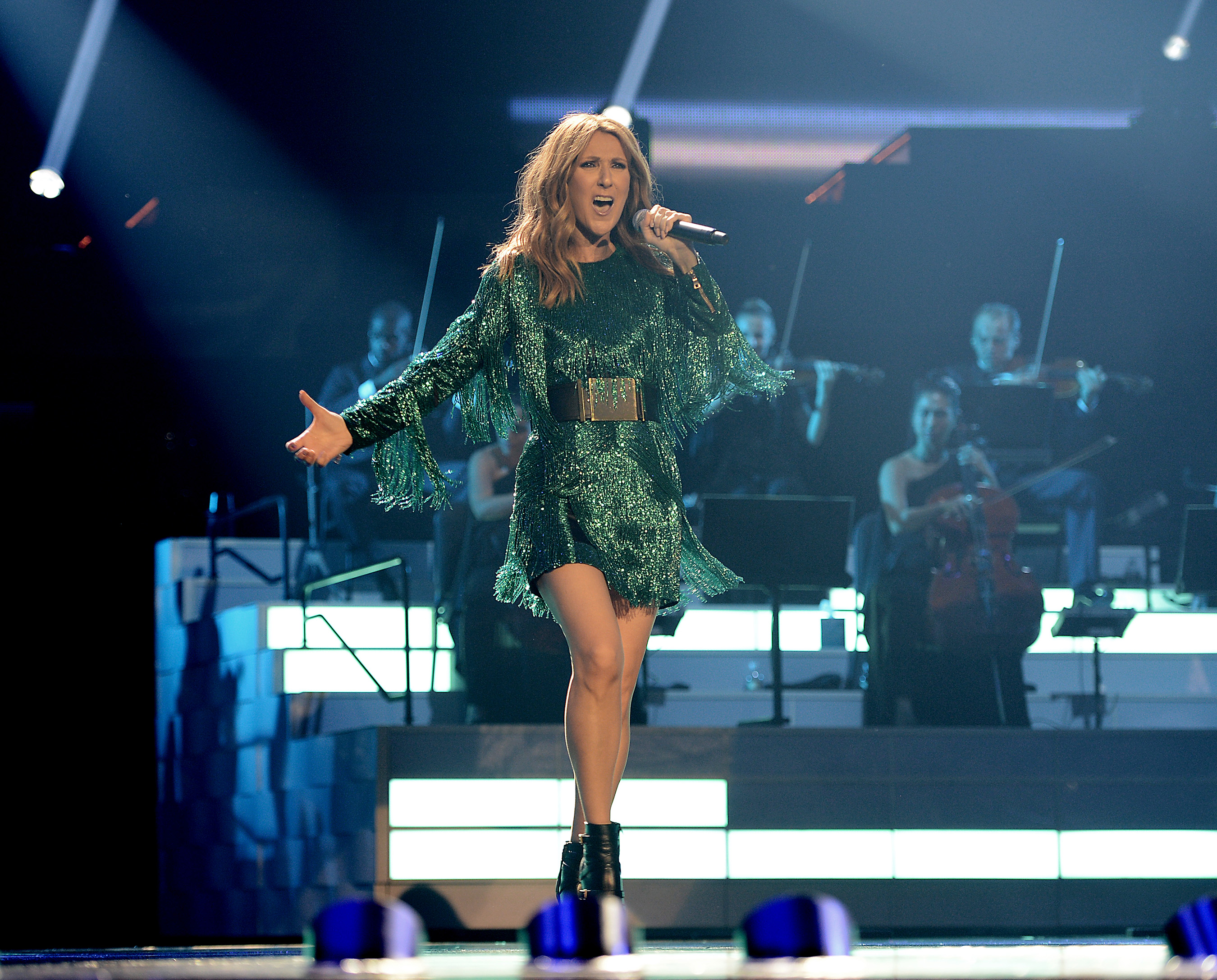 Celine Dion premieres much-anticipated return of her headlining residency show at The Colosseum at Caesars Palace on Thursday, Aug. 27. Photo Credit: Denise Truscello