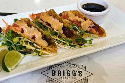 Brigg's Oyster Co.'s Ahi Tacos