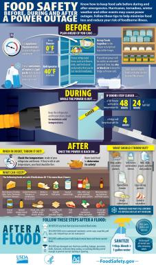 USDA Infographic - Food Safety Before, During And After A Power Outage - English