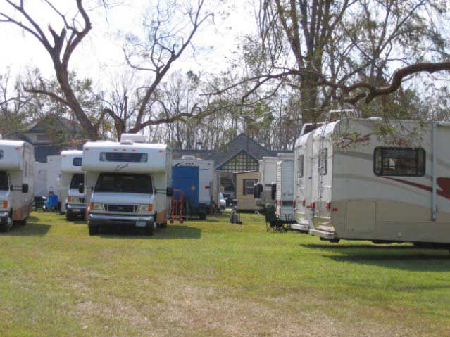 Fresenius Medical Care created a makeshift village in Orange Grove, MS made up of mobile homes and tents to care for the dialysis patients and employees who needed help after Katrina.