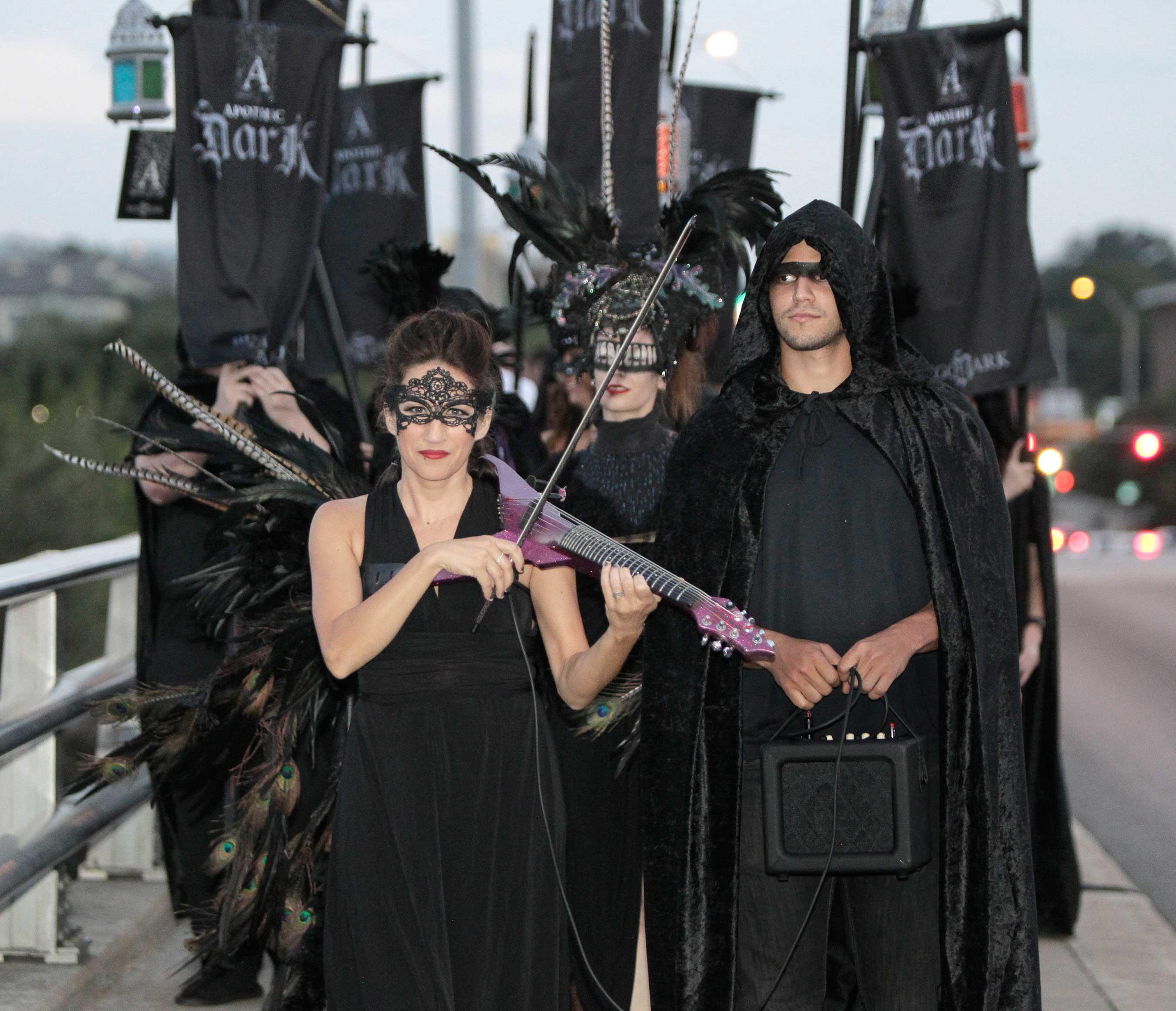 Procession on Bat Bridge