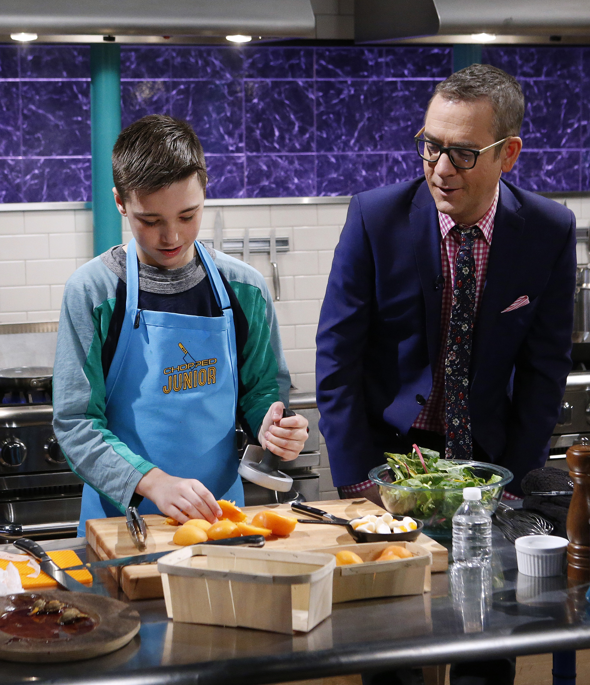 Talented junior chefs showcase their skills on food network in new host ted allen checks in on a junior chef during the competition on food networks chopped junior forumfinder Gallery