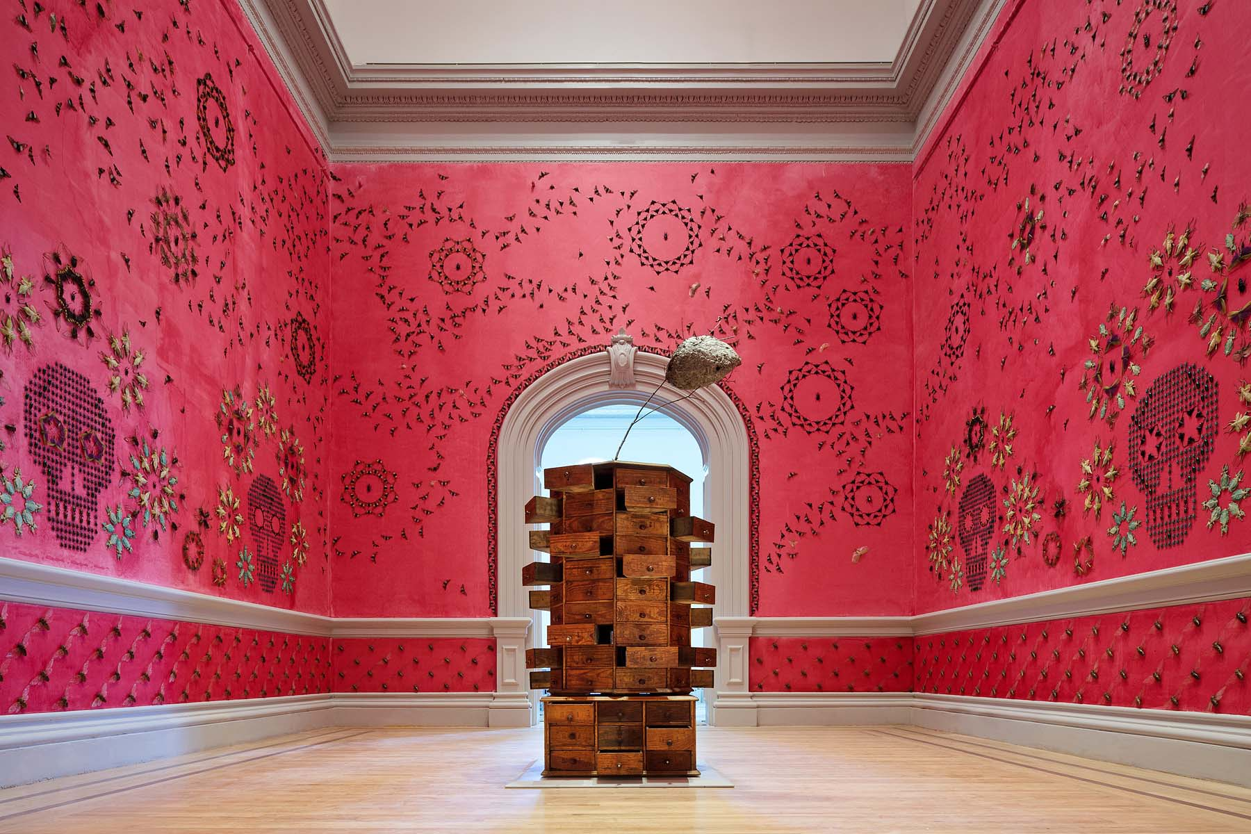 Jennifer Angus, In the Midnight Garden, 2015. Renwick Gallery of the Smithsonian American Art Museum. Photo by Ron Blunt.