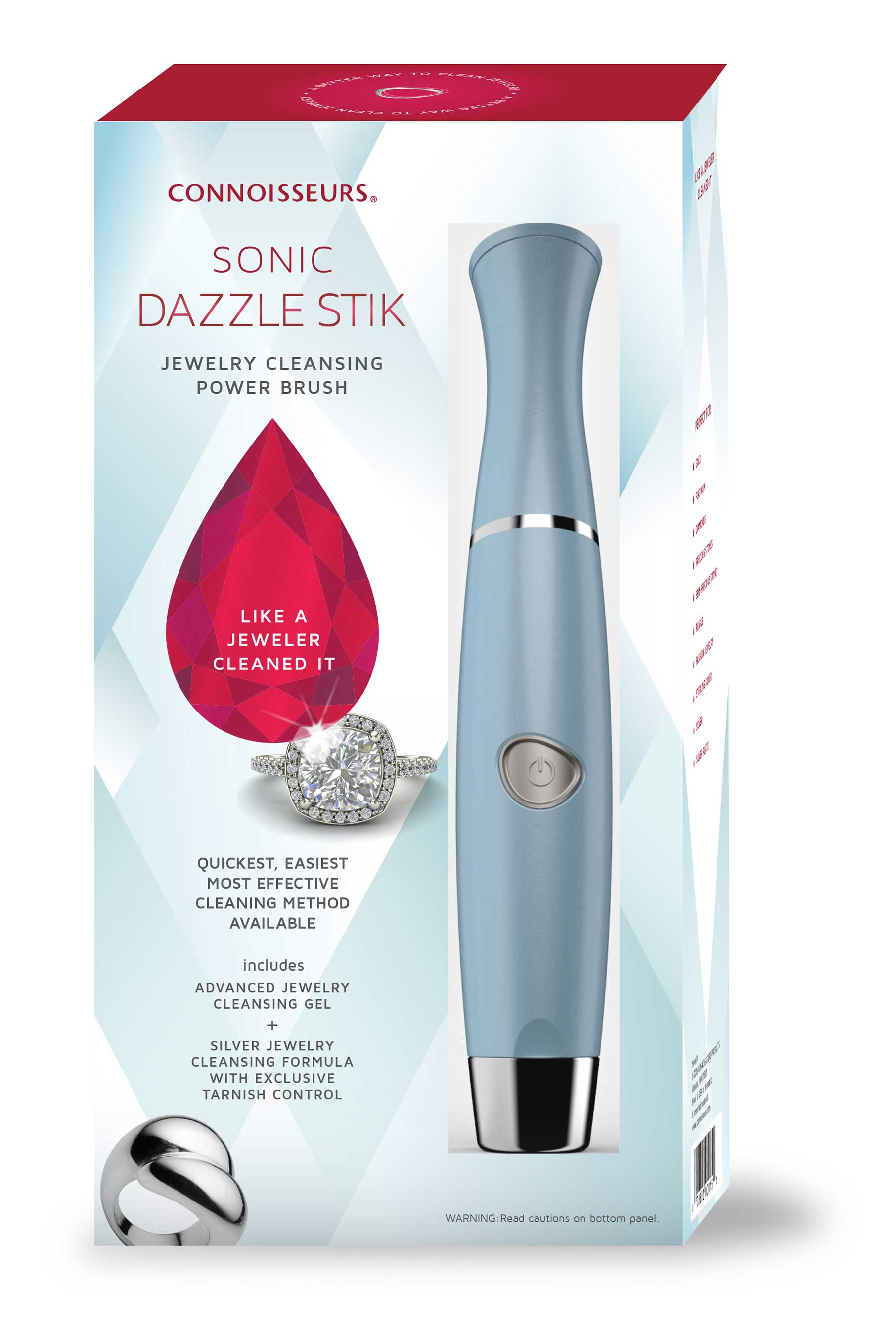 Connoisseurs Sonic Dazzle Stik Jewelry Cleansing Power Brush