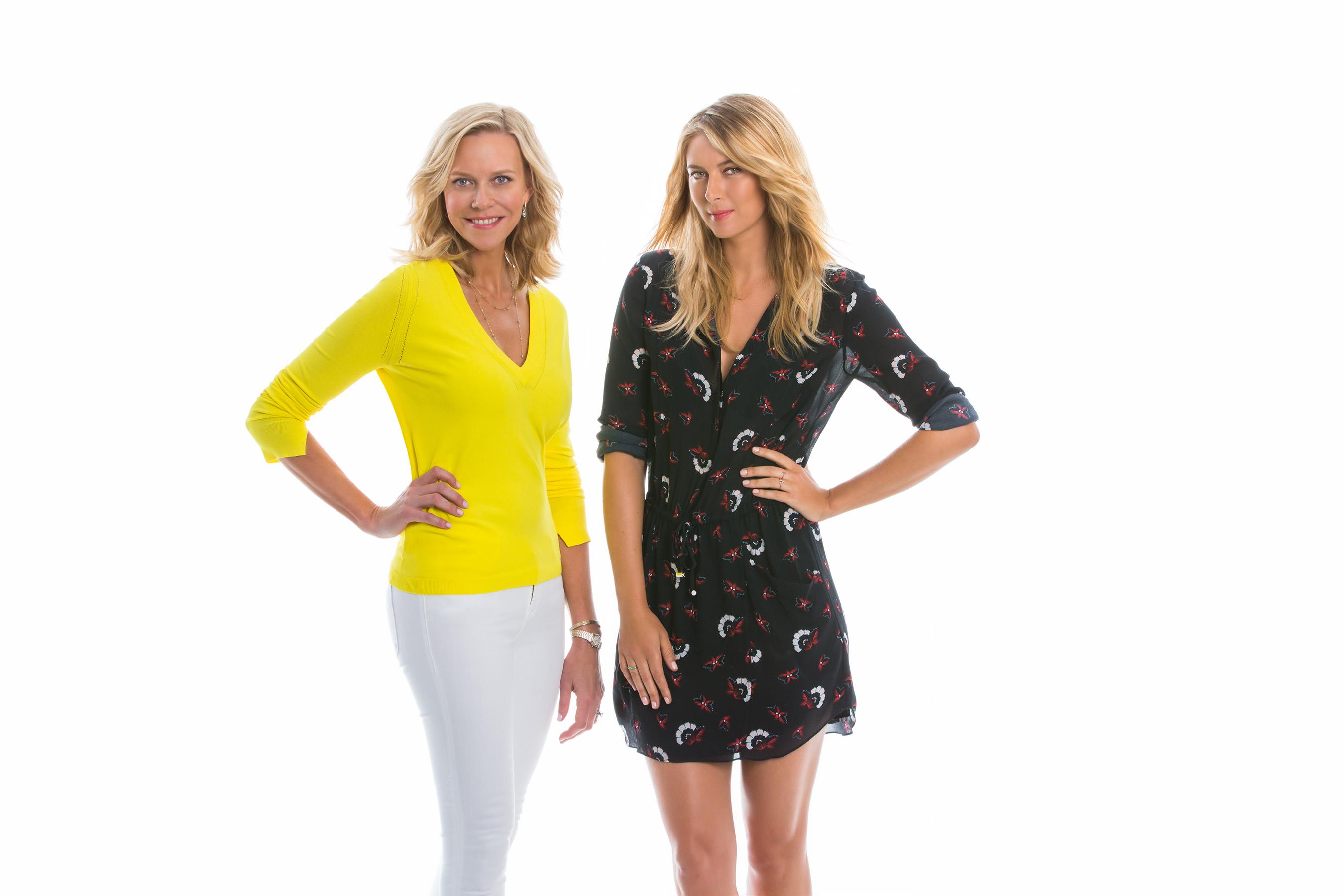 Holly Thaggard and Maria Sharapova