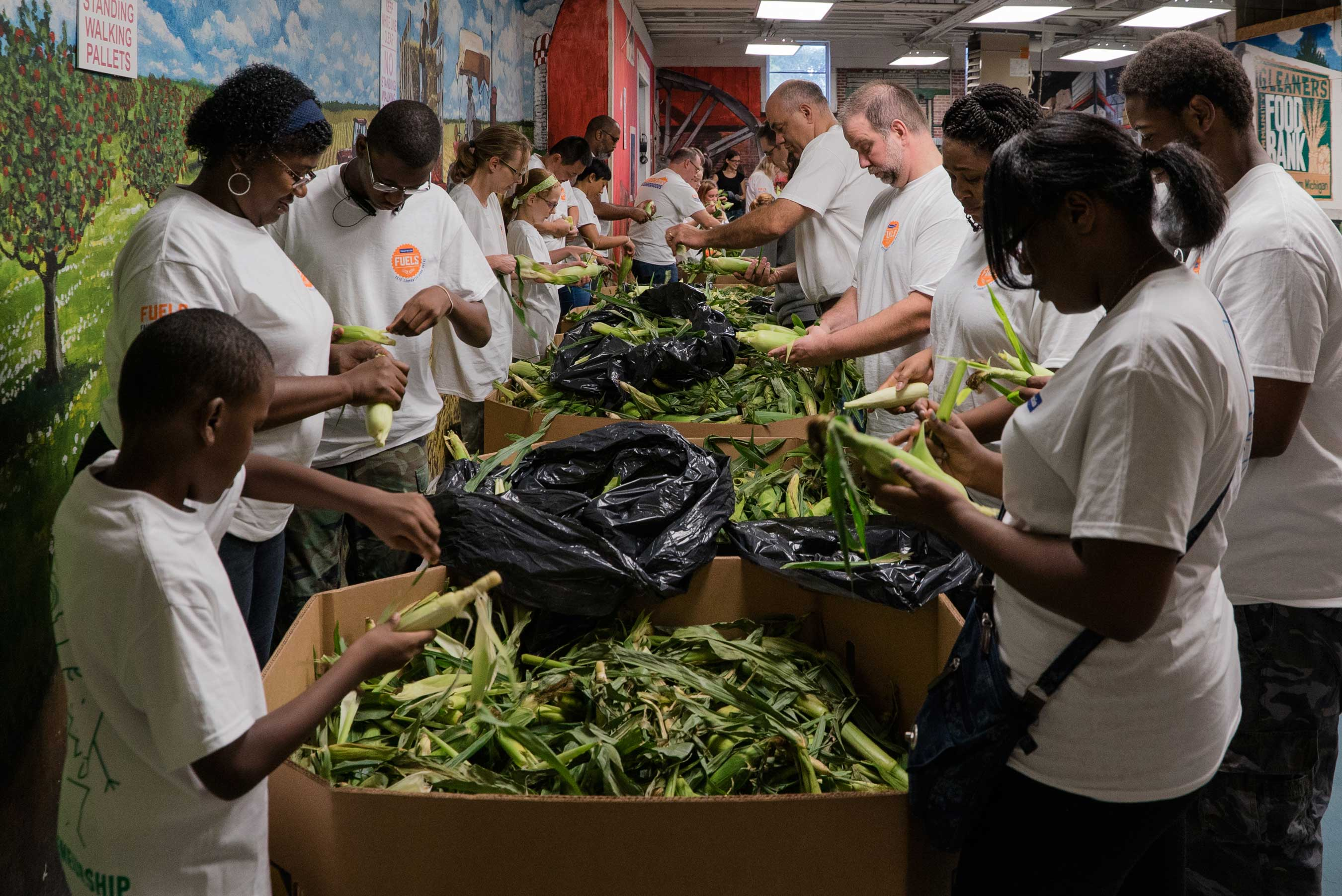 Through a different take on the assembly line, employees from Faurecia's North America headquarters in Auburn Hills, Michigan, show it takes a village to help nourish local communities in need.