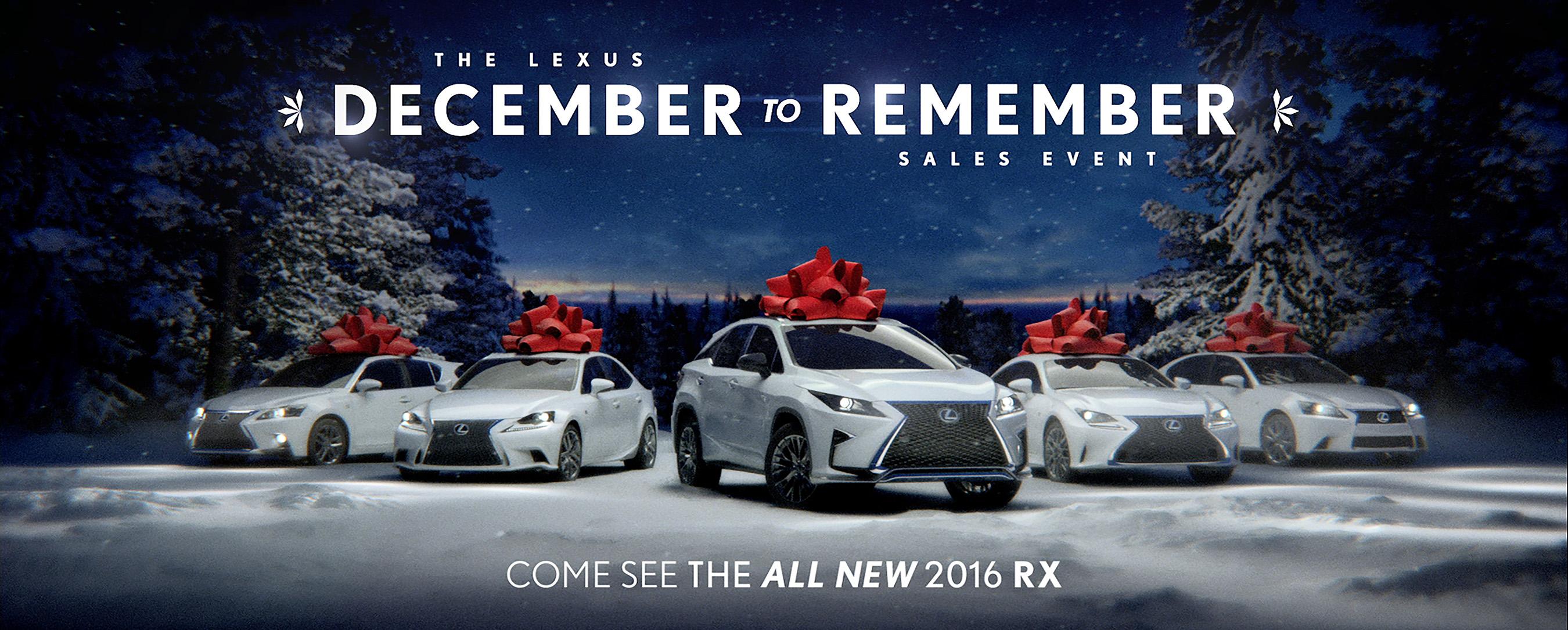 "Lexus ""December to Remember"" Sales Event"