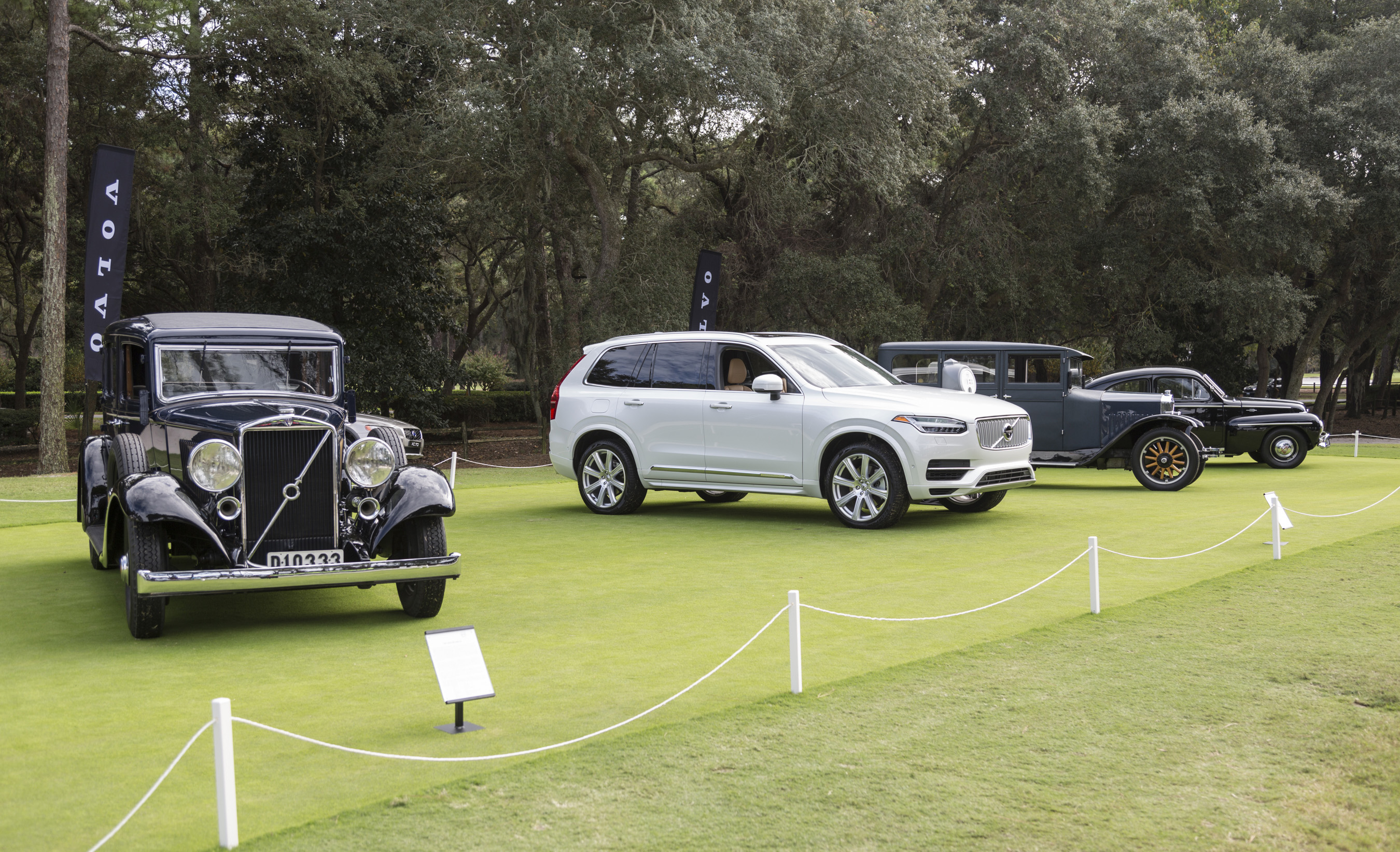 Volvo displayed significant vehicles from its past and future