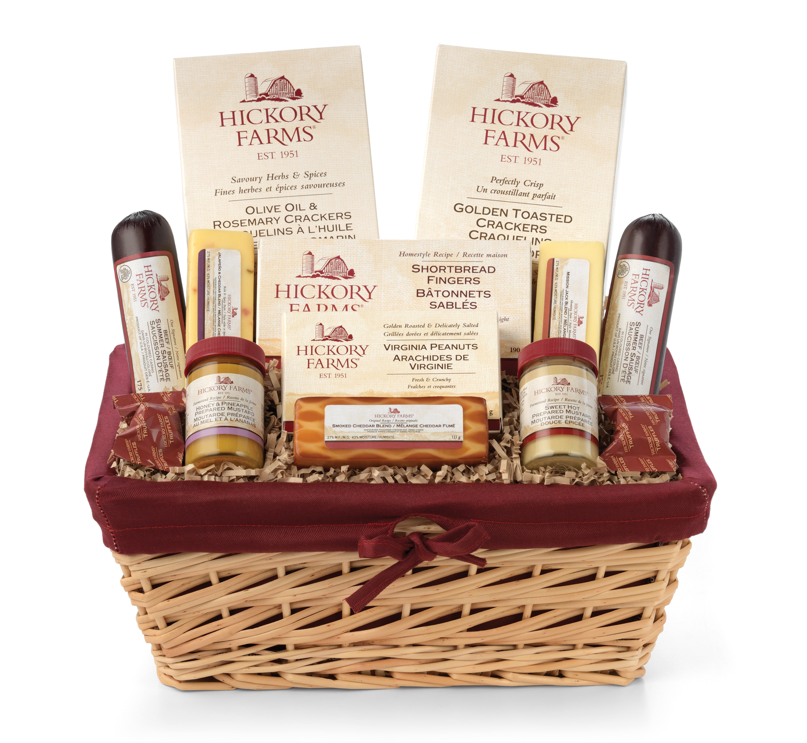 Hickory Farms Holiday Market. Hearty Holiday Gift Basket