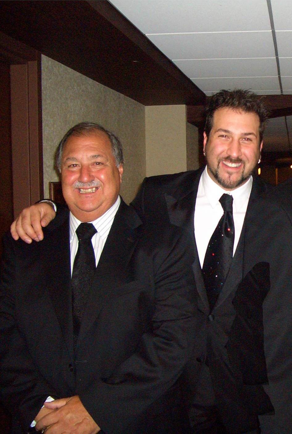Joey Fatone Sr. and Joey Fatone Jr.