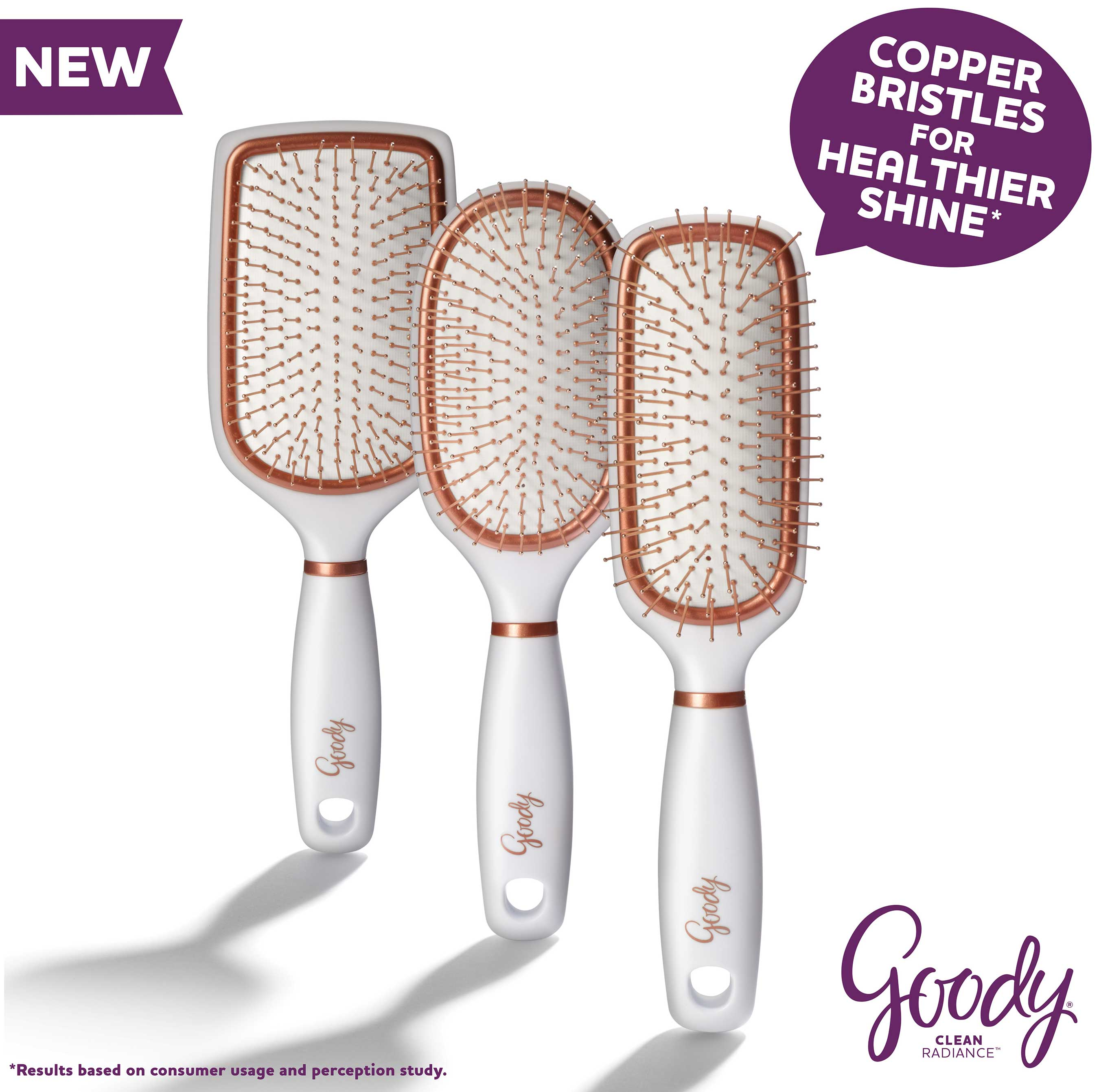 Copper bristles massage the scalp and work through the hair to reduce buildup that occurs in hair over time, ...