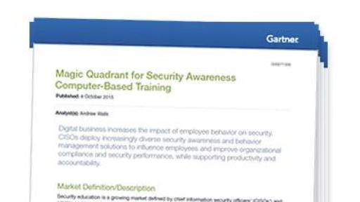 magic quadrant for security awareness computer based training pdf