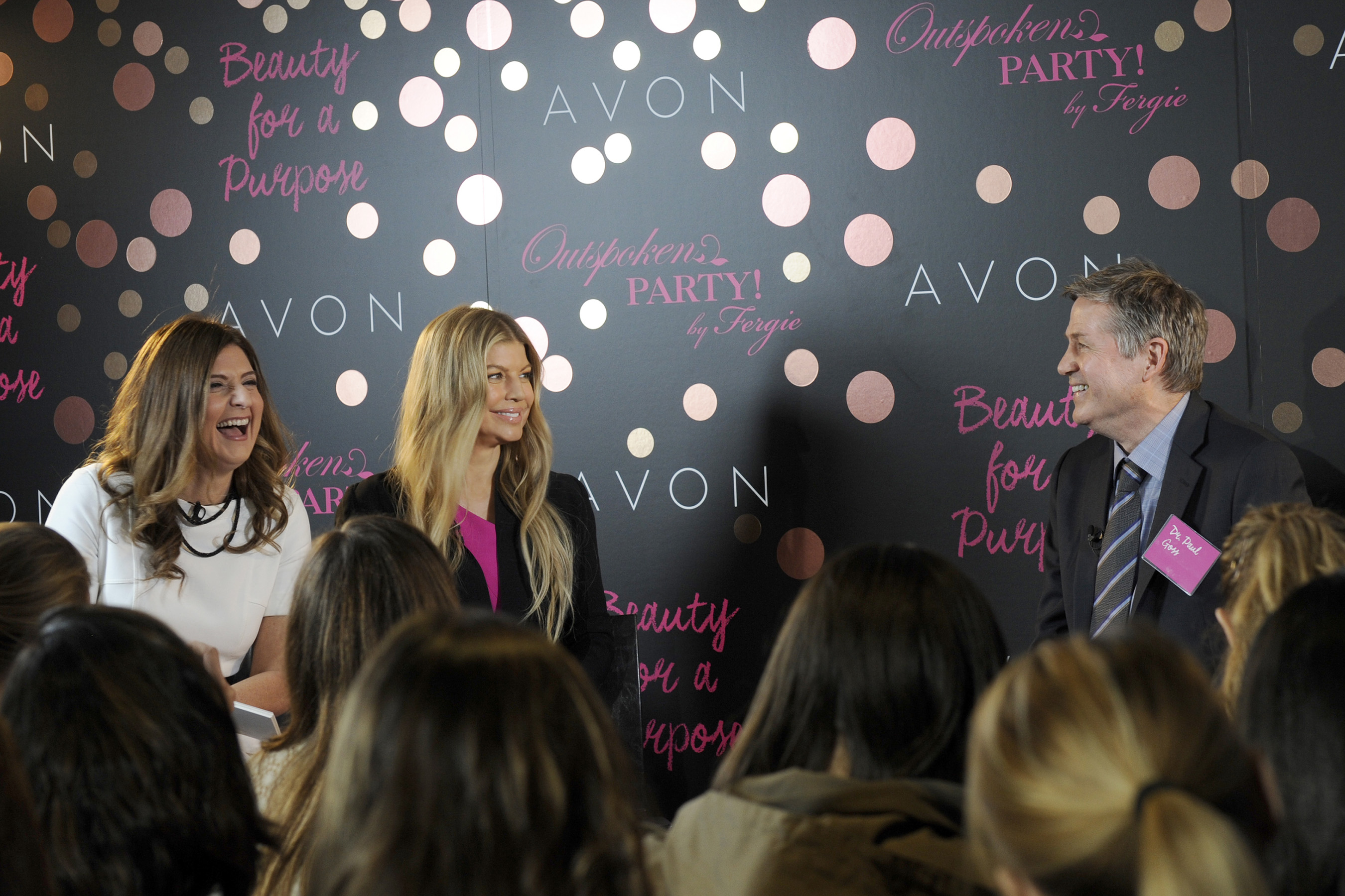 Global Brand Ambassador Fergie launches her new Avon fragrance, Outspoken Party! by Fergie, of which $5 from each sale benefits the Avon Foundation for Women and their fight to end breast cancer