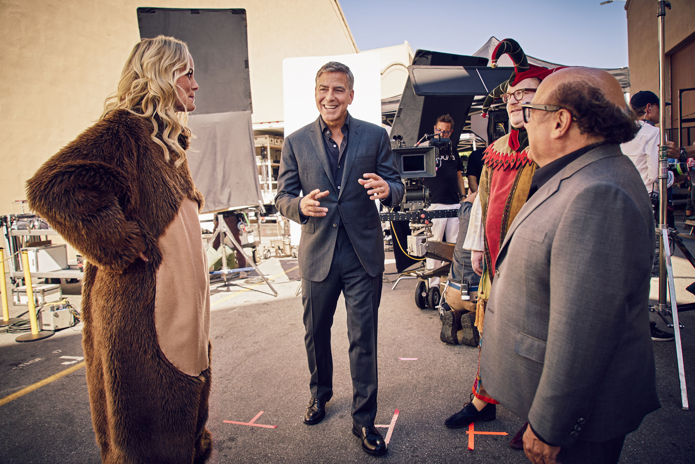 "George Clooney on the set of the new Nespresso ""Experience a cup above"" advertising shoot in Los Angeles, CA - Credit: Rainer Hosch"