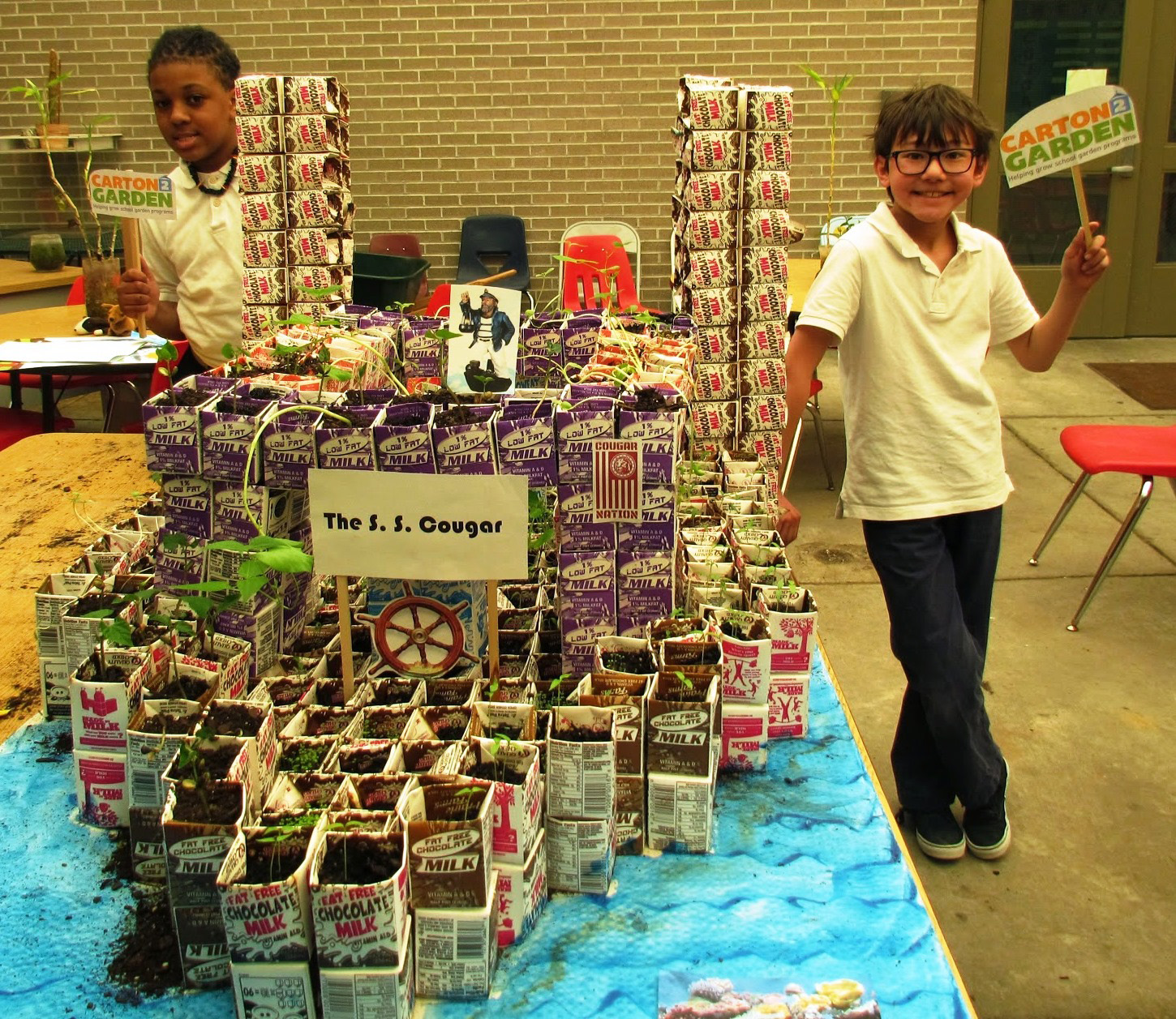 """The Carton 2 Garden Contest helped Cordova Middle School make their school """"greener"""" and beautified their campus while educating the students on recycling and healthy living."""