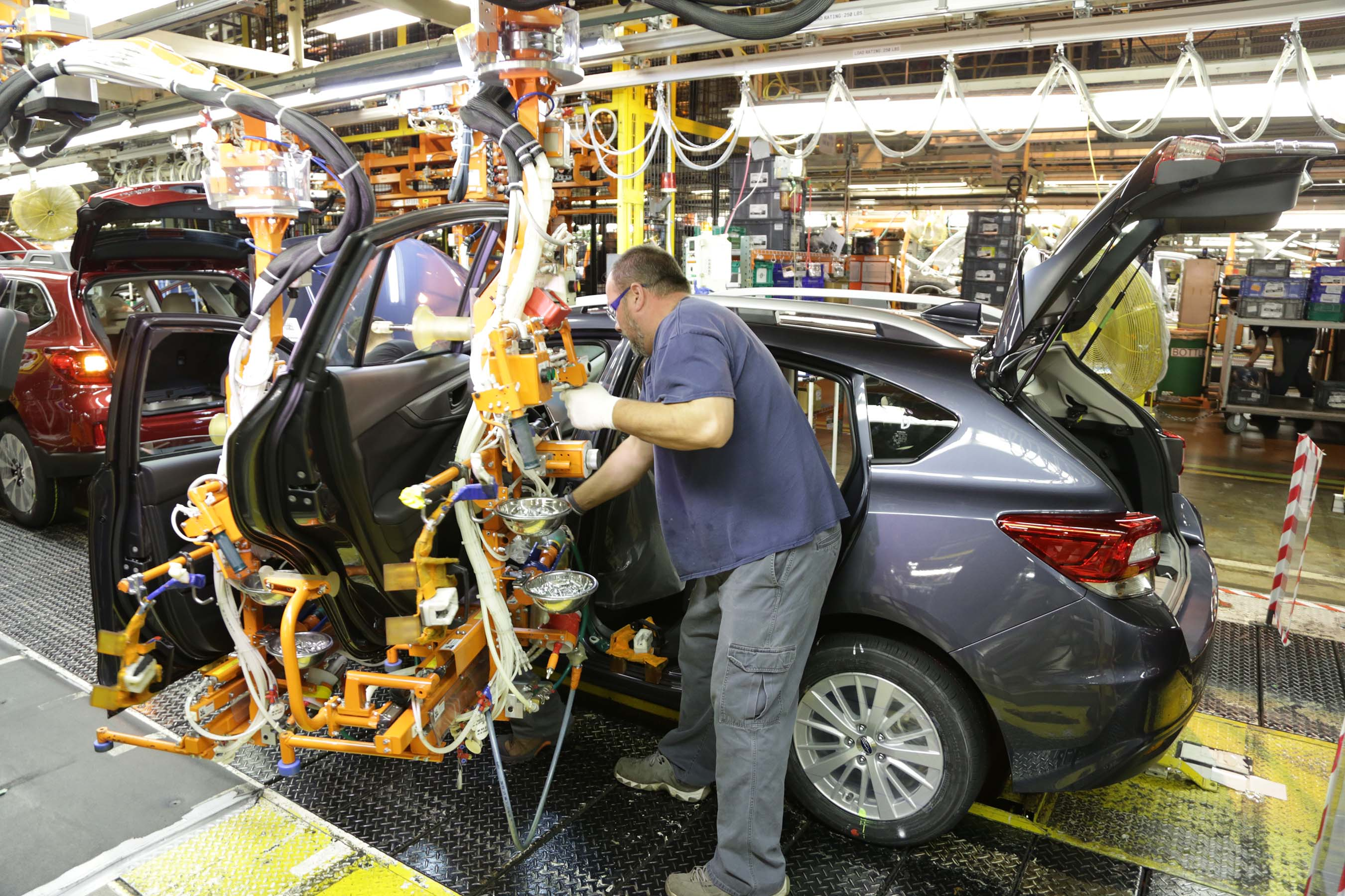 First American-Built Subaru Impreza Rolls Off The Line In ...