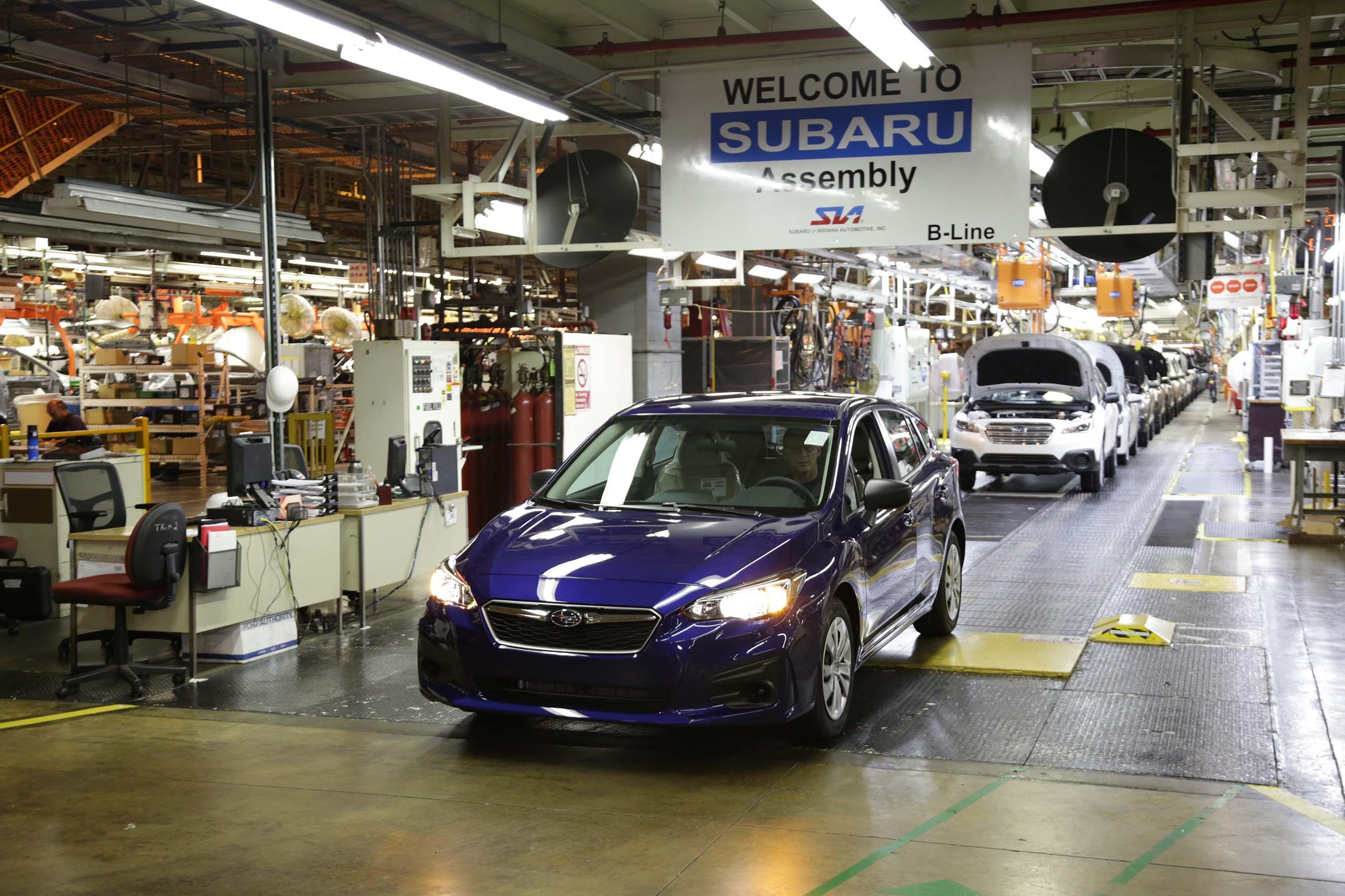 First American-Built Subaru Impreza Rolls Off The Line In ...