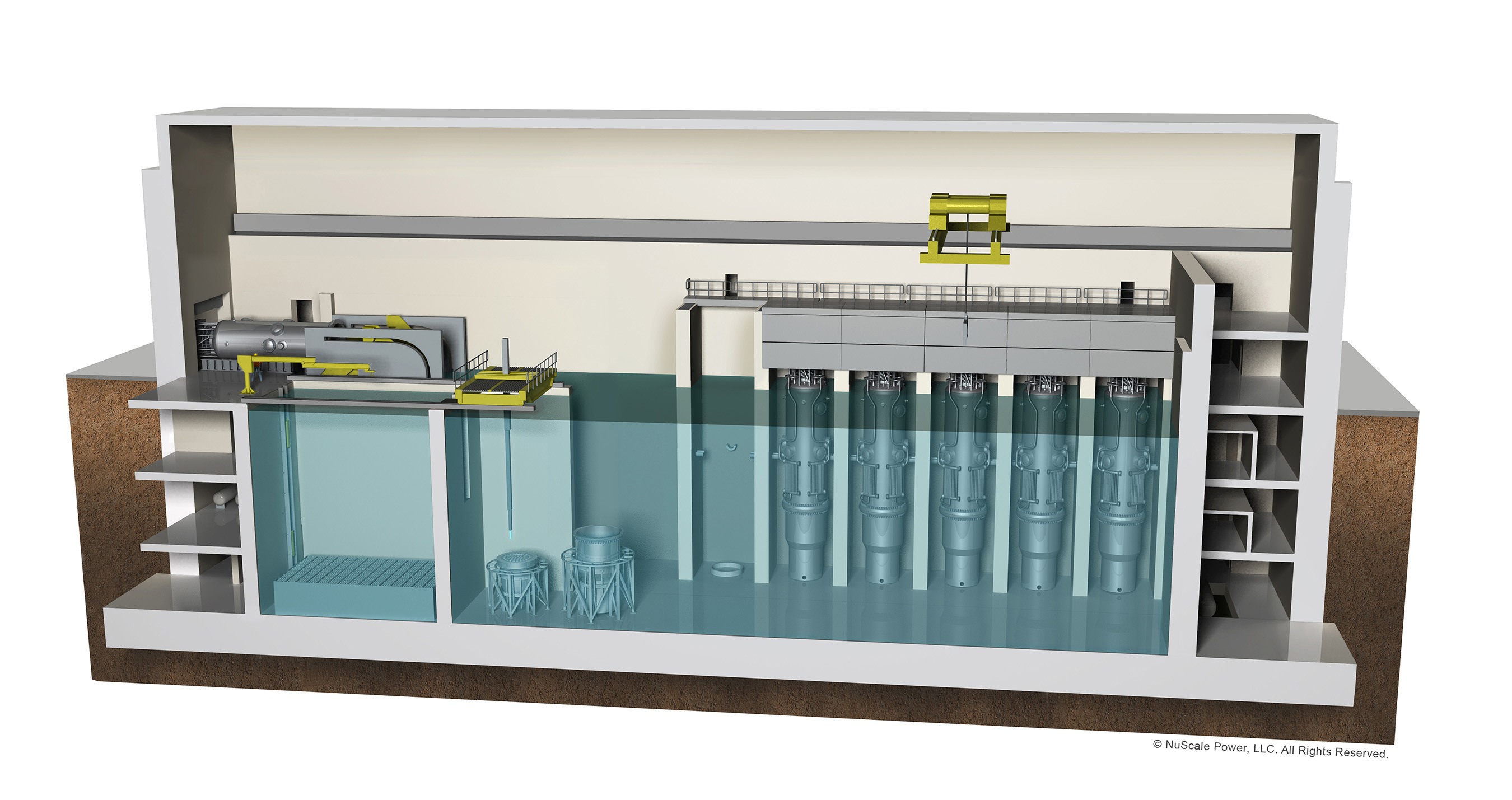 The NuScale Small Modular Reactor. Design simplicity allows the NuScale Power Module™ to be factory-built off-site. This makes the plant faster to construct, and less expensive to build and operate.