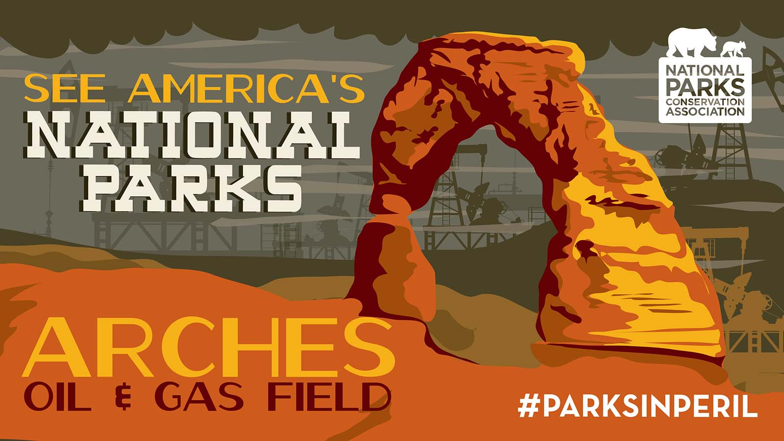 What if you hiked all the way to the park's famous Delicate Arch and gazed out to see … oil pumps?