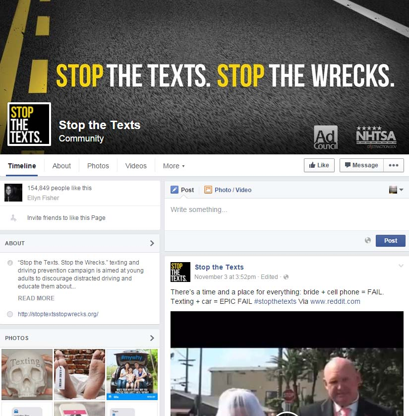 Facebook Homepage: Stop The Texts