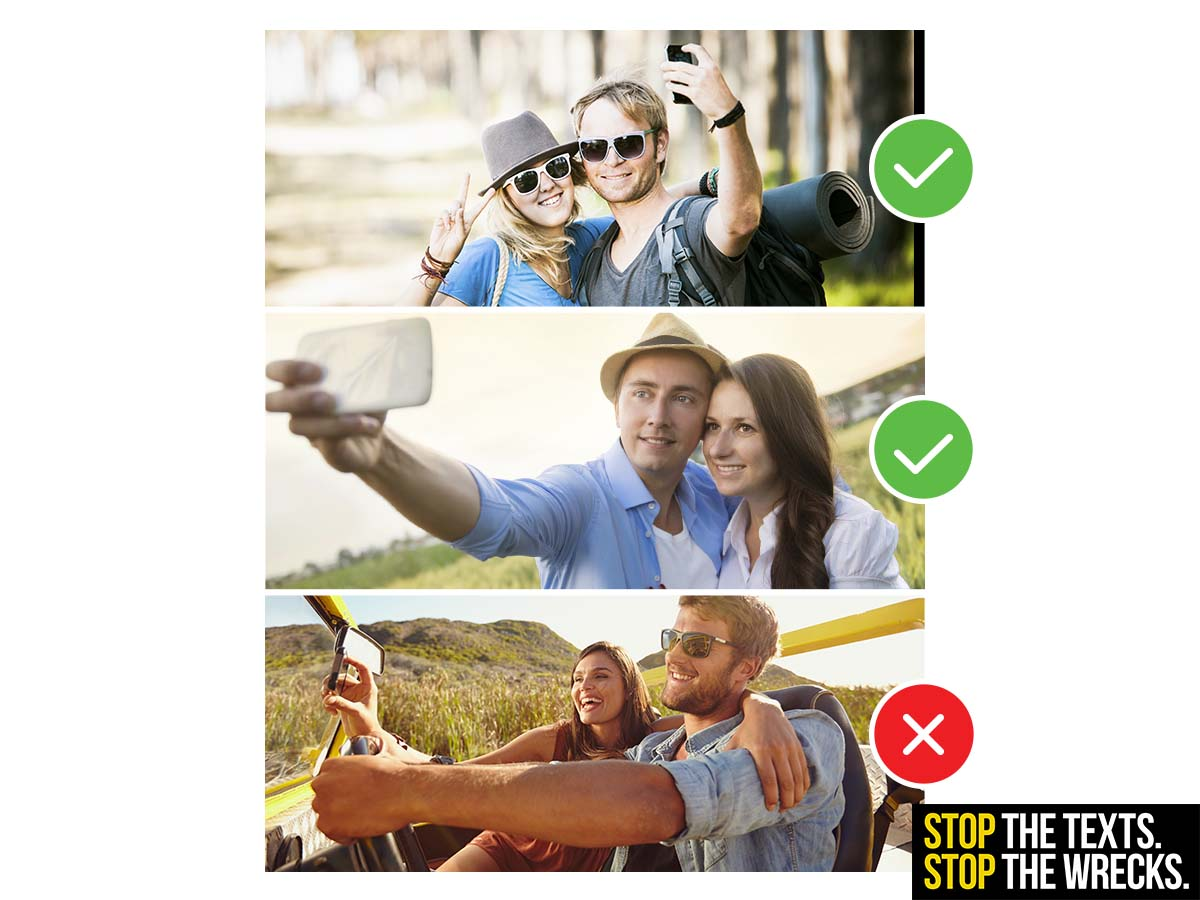 Social Graphic: No Selfies On The Road