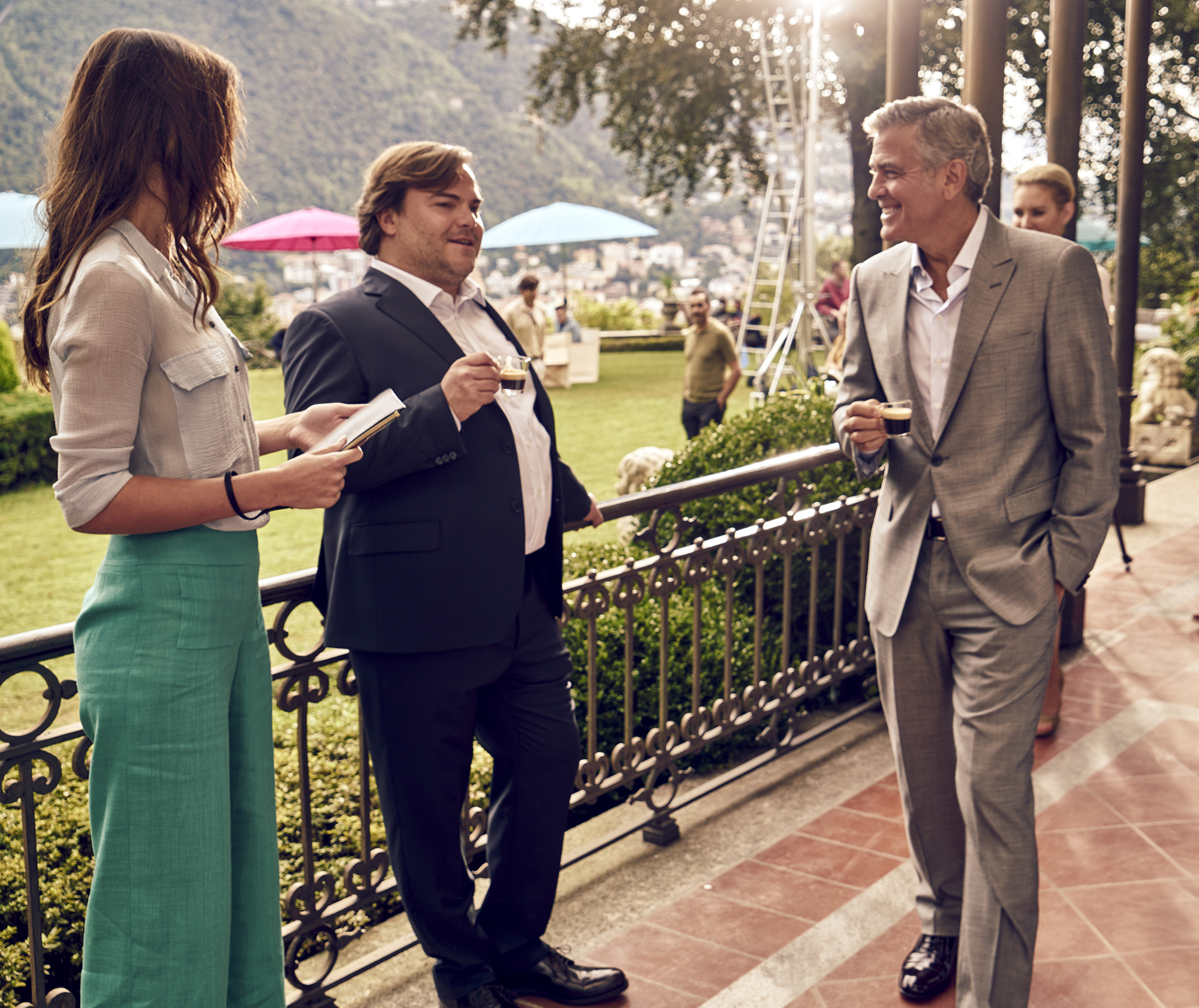 BEHIND-THE-SCENES WITH GEORGE CLOONEY AND JACK BLACK AS THEY