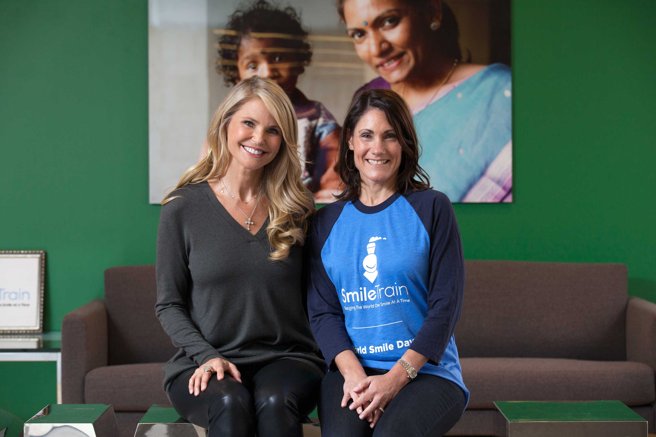 Christie Brinkley and Susannah Schaefer, CEO, Smile Train meet to discuss raising awareness and funding in support of children with clefts across the world.