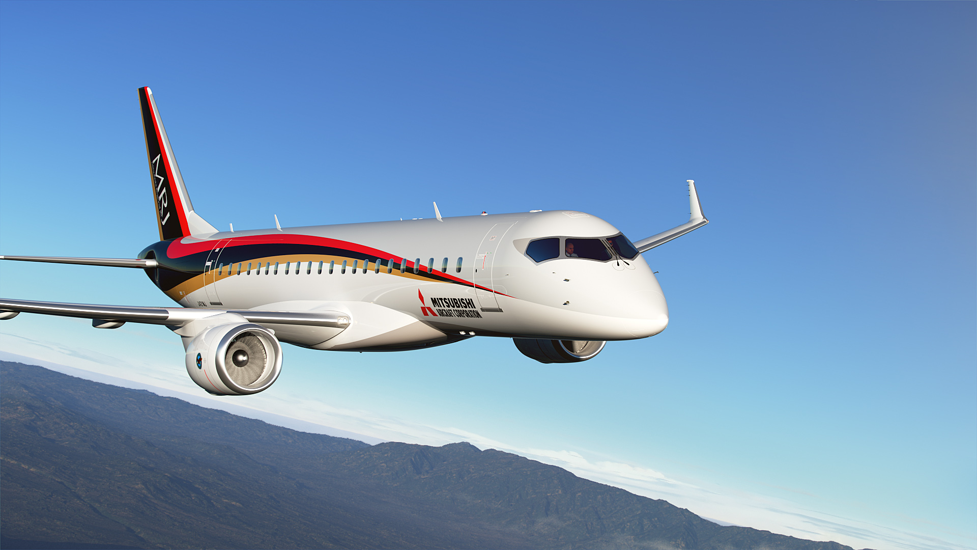 Mrj successfully completes first flight for Airplane exterior design
